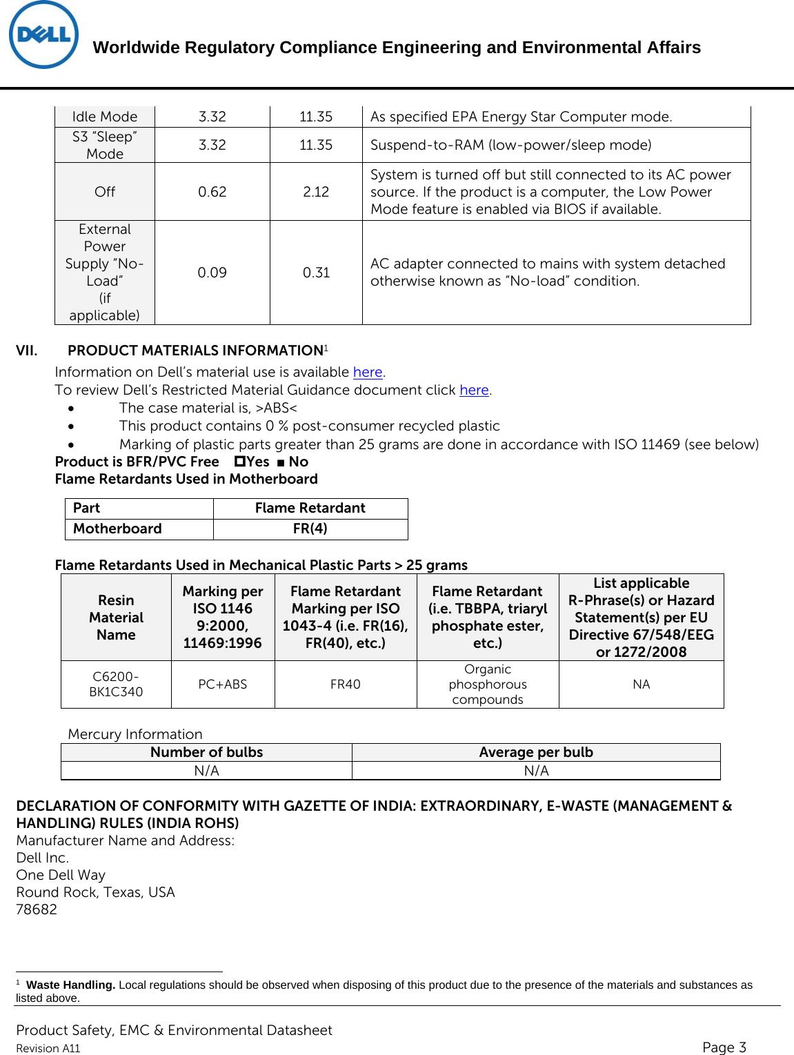 Dell Wyse 3040 thin client ENV0023_ENV_Datasheet_N10D User