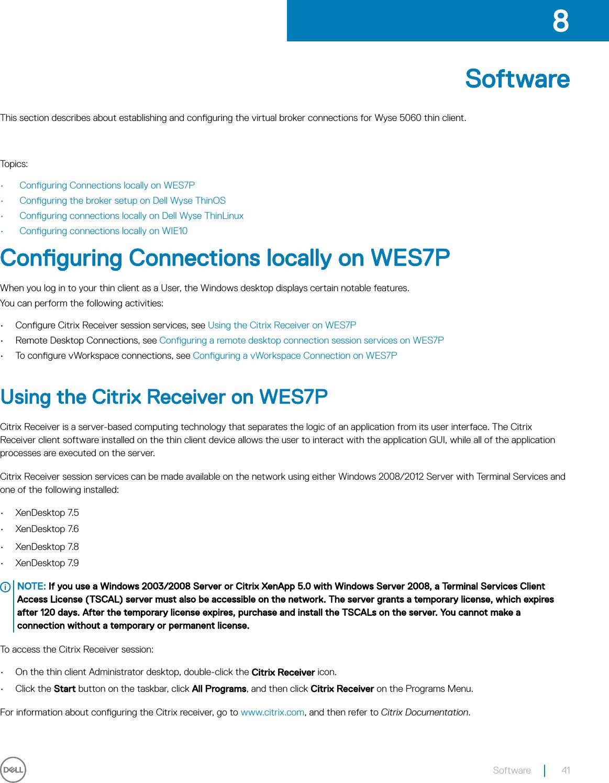Citrix Receiver Documentation