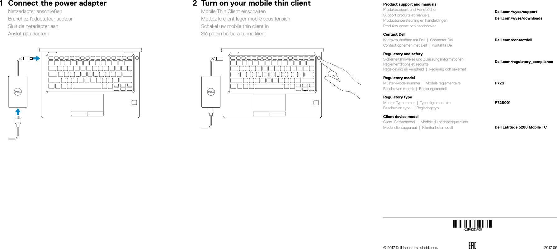 Dell Wyse 5280 mobile thin client Latitude Quick Start Guide