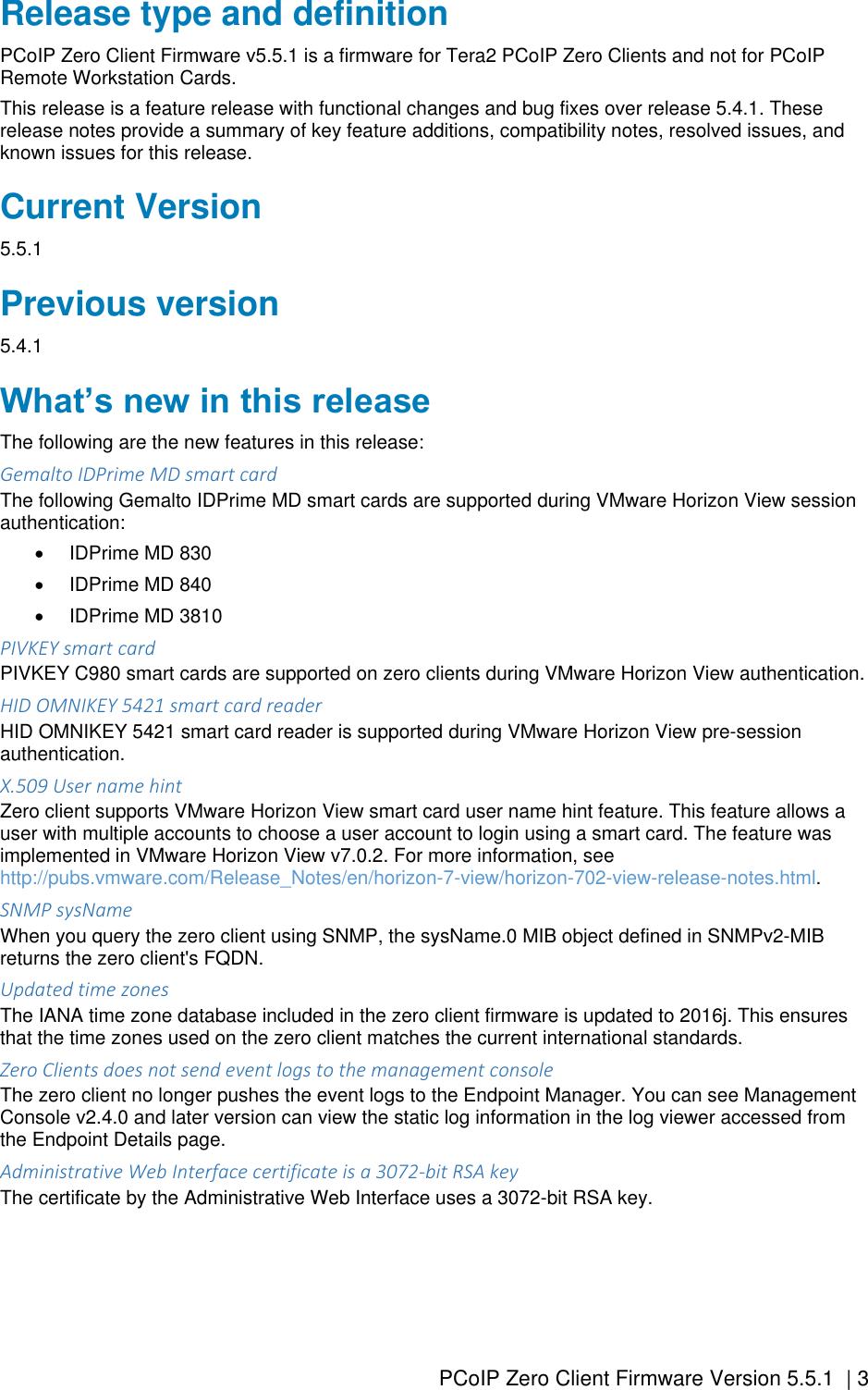 Dell Wyse 7030 zero client PCoIP Firmware Version 5 5 1