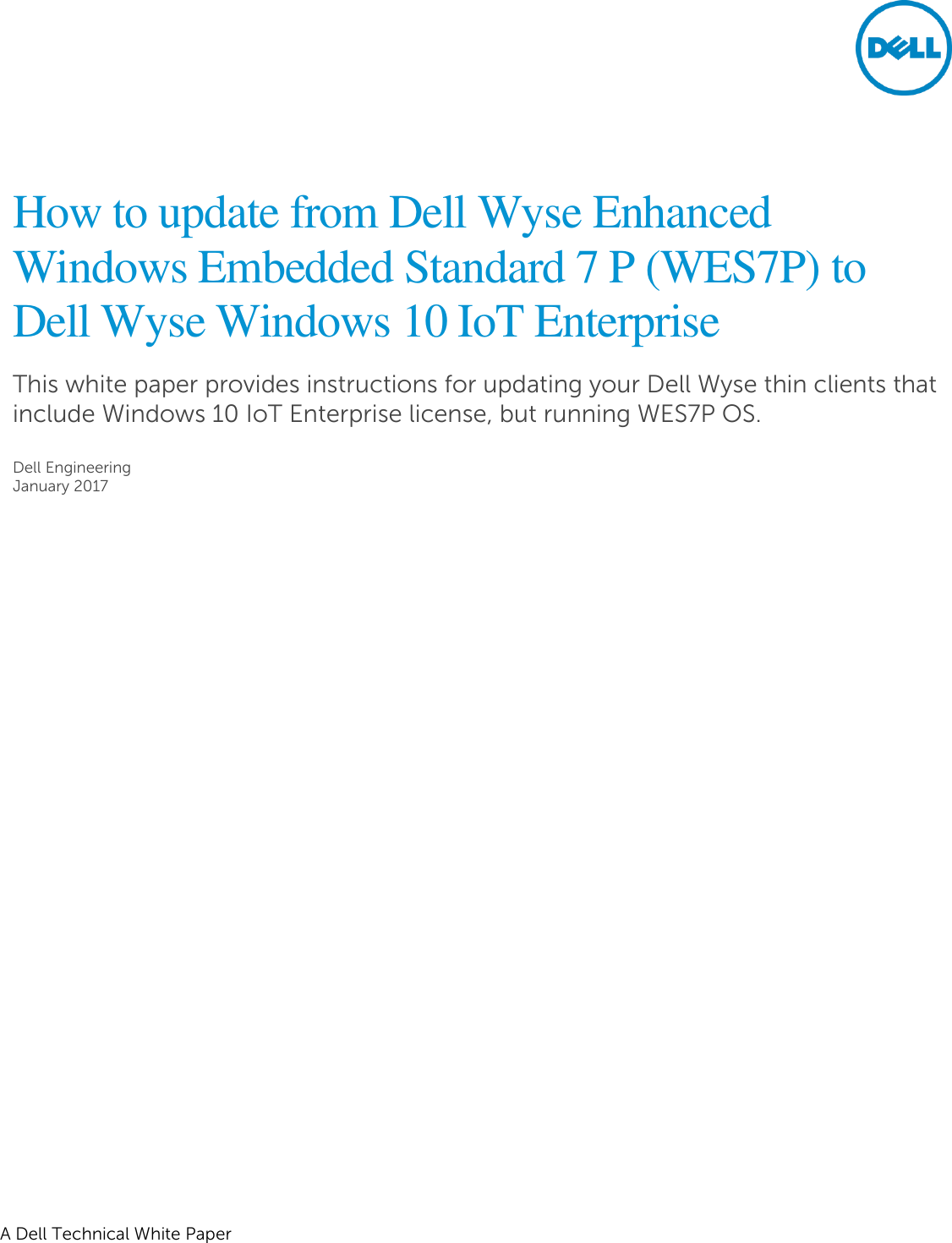 Dell Wyse 7040 thin client How To Update From Enhanced