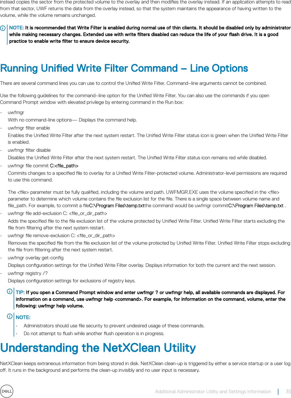 Write Filter Wyse