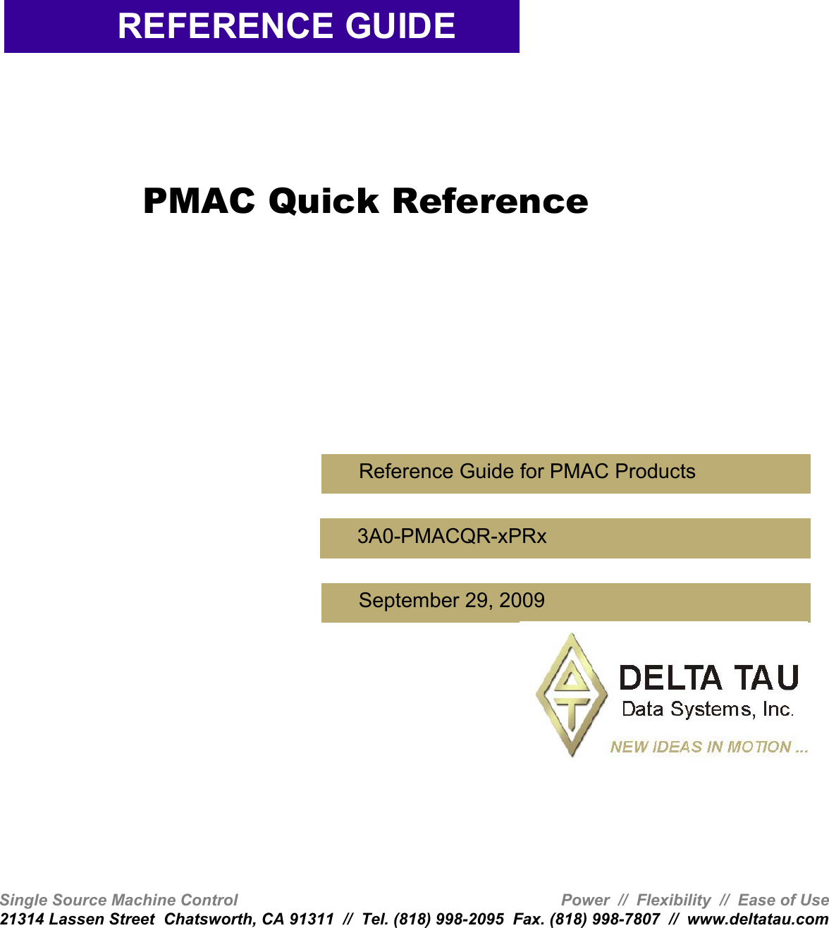 Delta Tau Brick Controller Reference Guide Pmac Quick Integrated Circuit Electronics M363 70 C