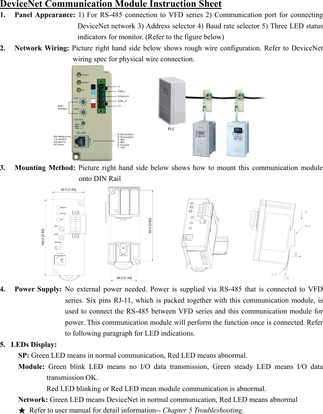 Delta Network Device Dn02 Users Manual 5011622001 Dni1 Devicenet Wiring Diagram