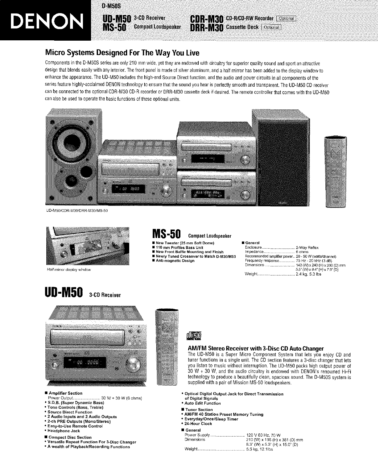 denon drr m30 user manual cassette deck manuals and guides l0211186 rh usermanual wiki denon ud-m50 owners manual
