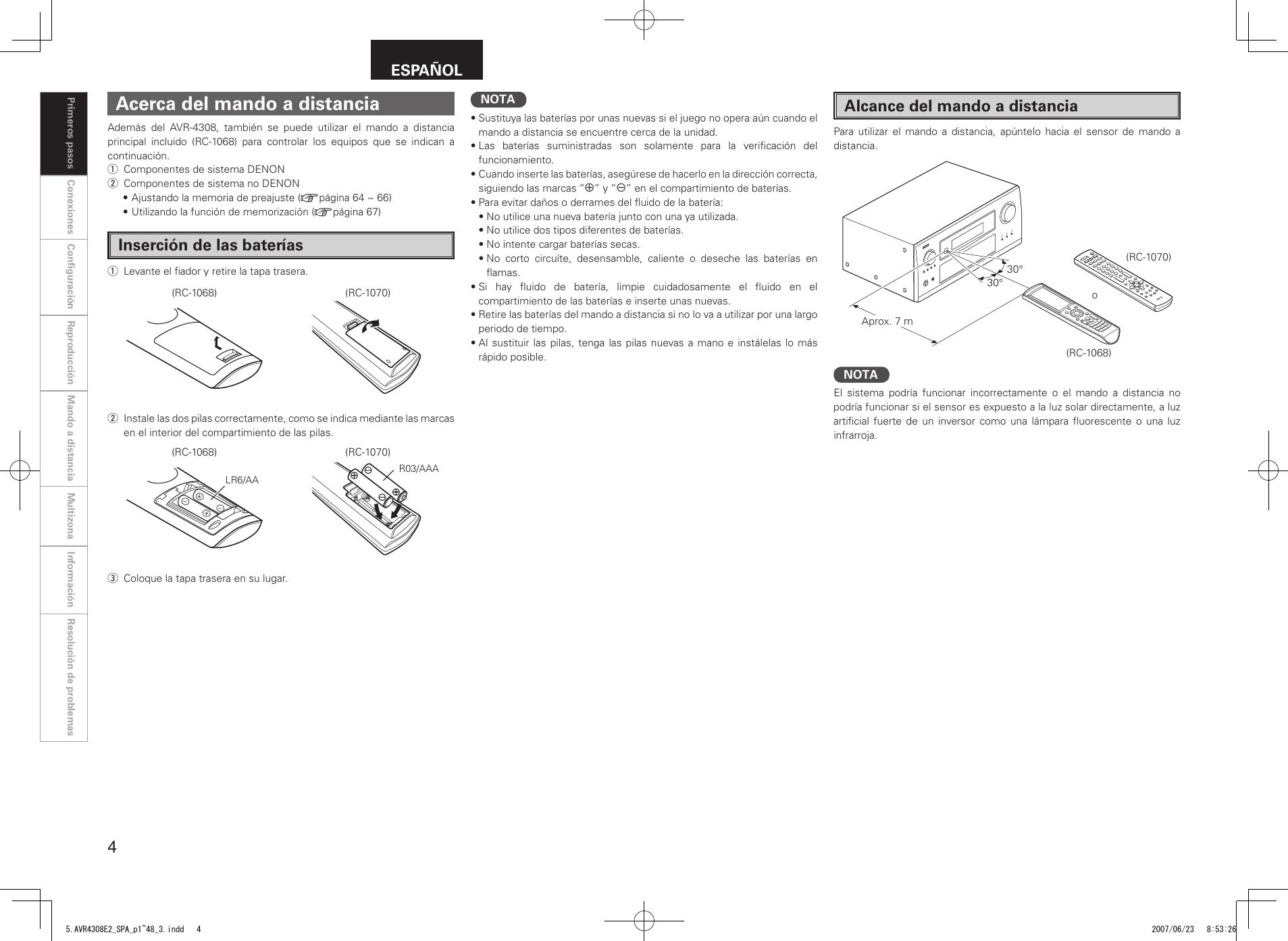 Denon Avr 4308 Users Manual 5.AVR4308E2_SPA_p1~48_3 on