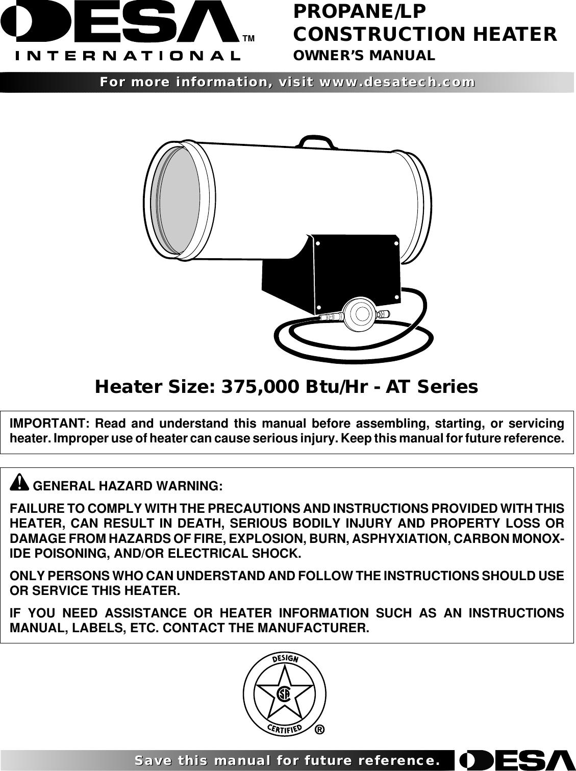 Desa At Series Users Manual