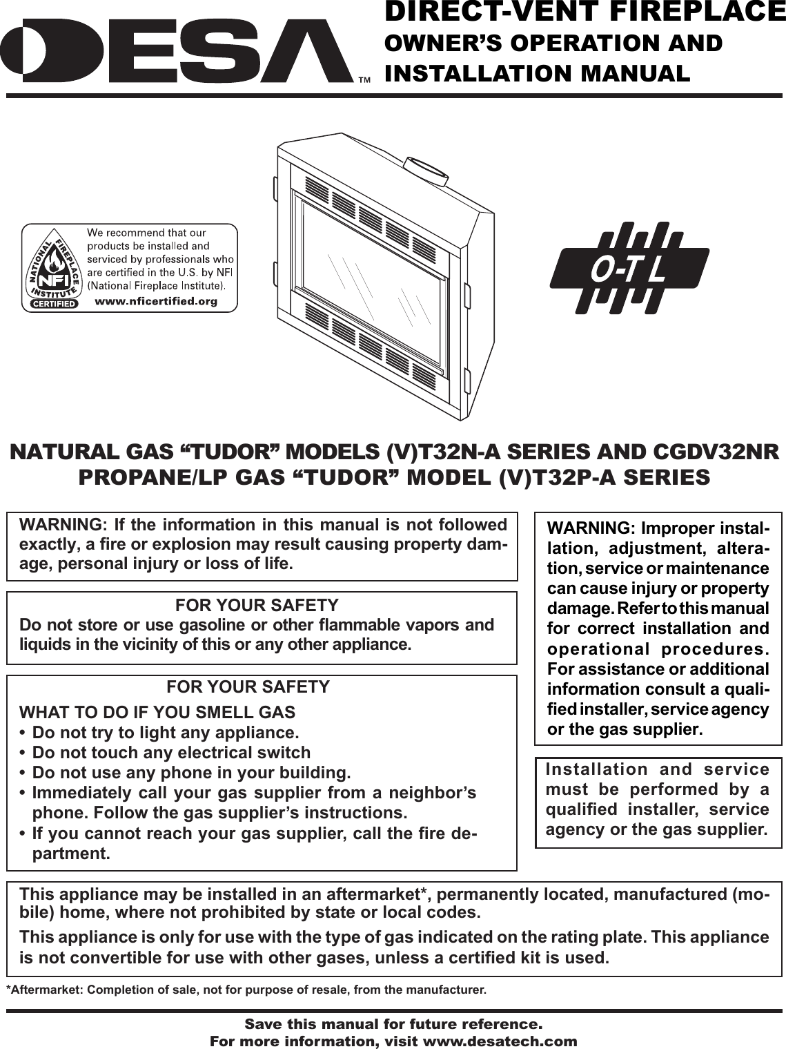 Desa Vt32n A Series Users Manual 116646 01a Propane Electric Refrigerator Wiring Schematic