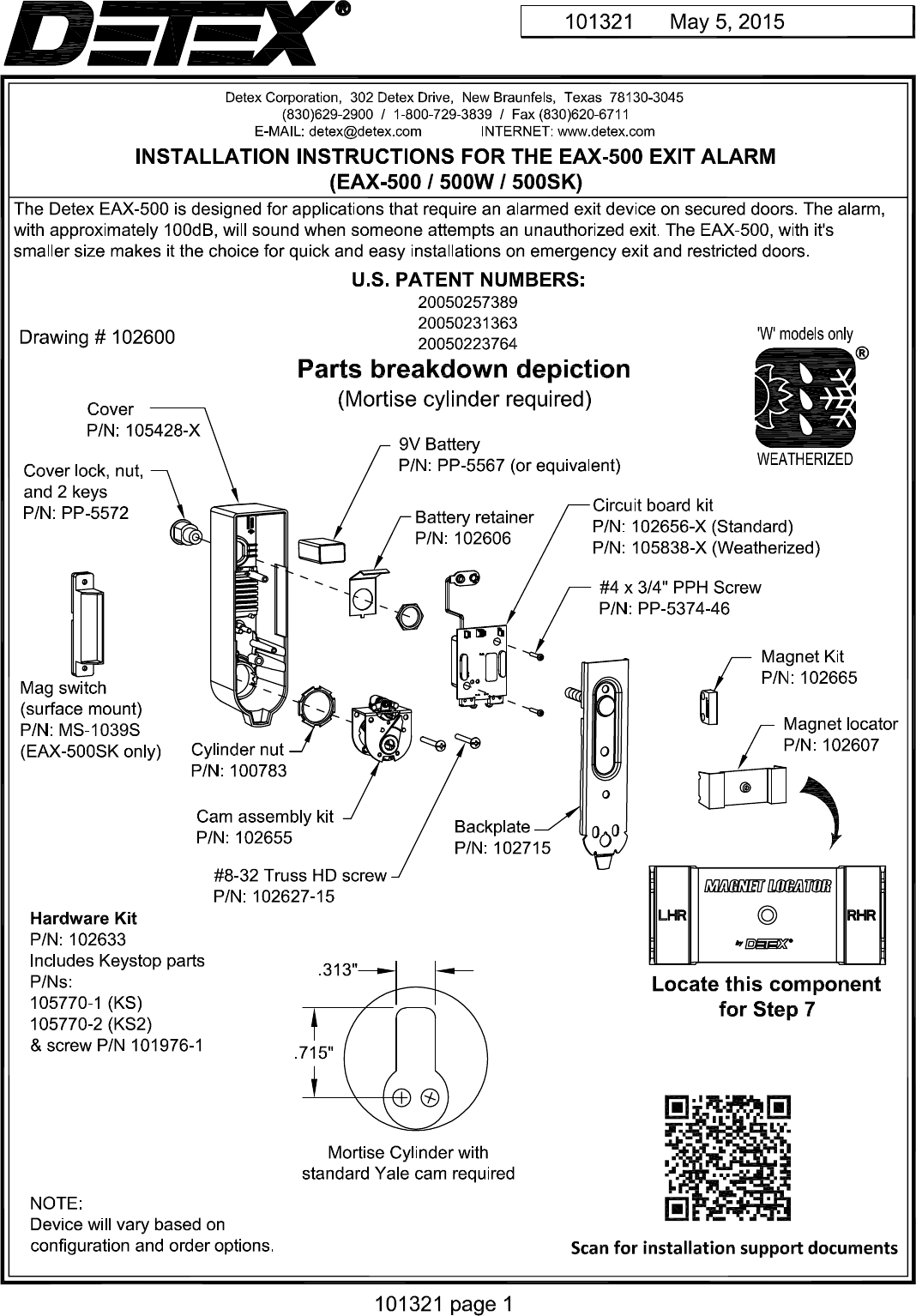 [DIAGRAM_34OR]  Detex EAX 500 Installation Instructions 101321Press Quality | Detex Wiring Diagrams |  | UserManual.wiki
