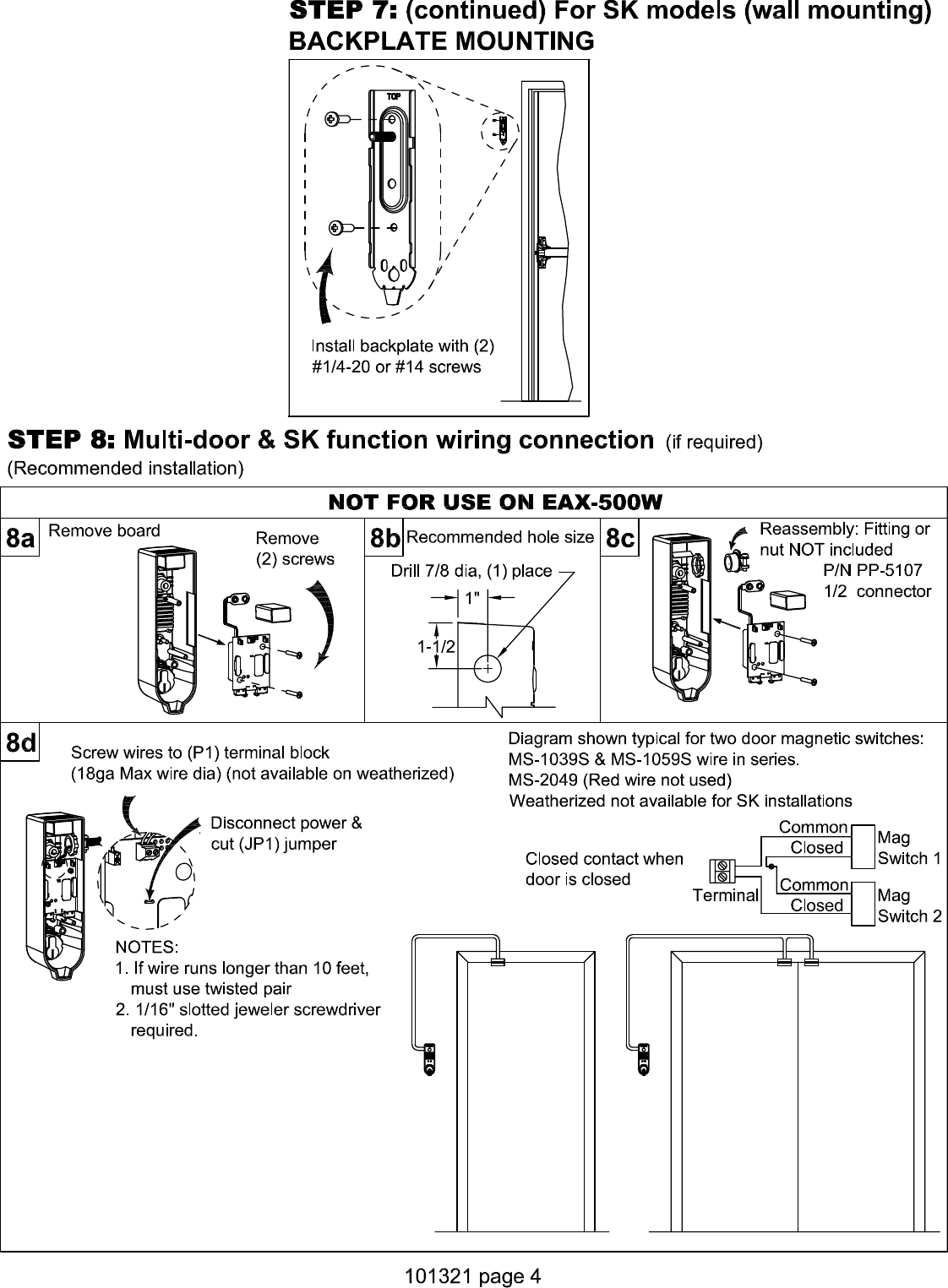 [SCHEMATICS_48ZD]  Detex EAX 500 Installation Instructions 101321Press Quality | Detex Wiring Diagrams |  | UserManual.wiki