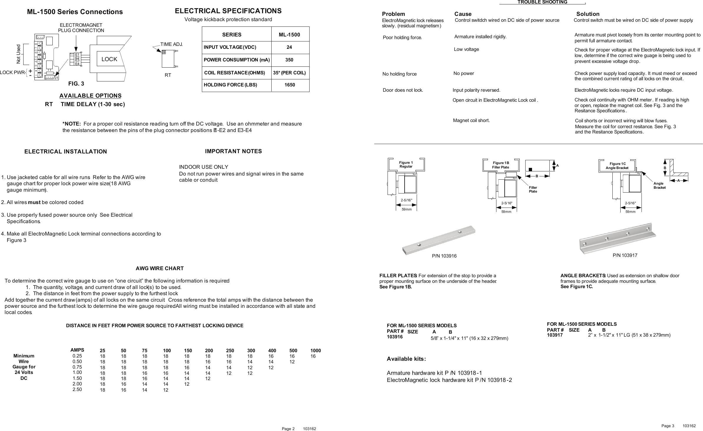 Detex installation instructions ml 1500 series electromagnetic lock page 2 of 2 detex installation instructions ml 1500 series electromagnetic lock 103162 keyboard keysfo Gallery