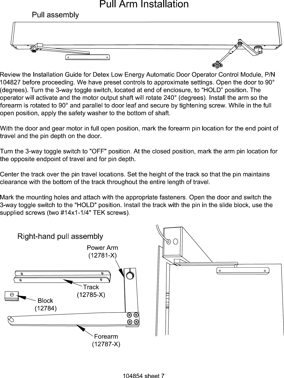 Detex R Dual Egress Ao19 3 Low Energy Automatic Door Operator X 10 Way Switch Wiring Diagram Page 7 Of 12