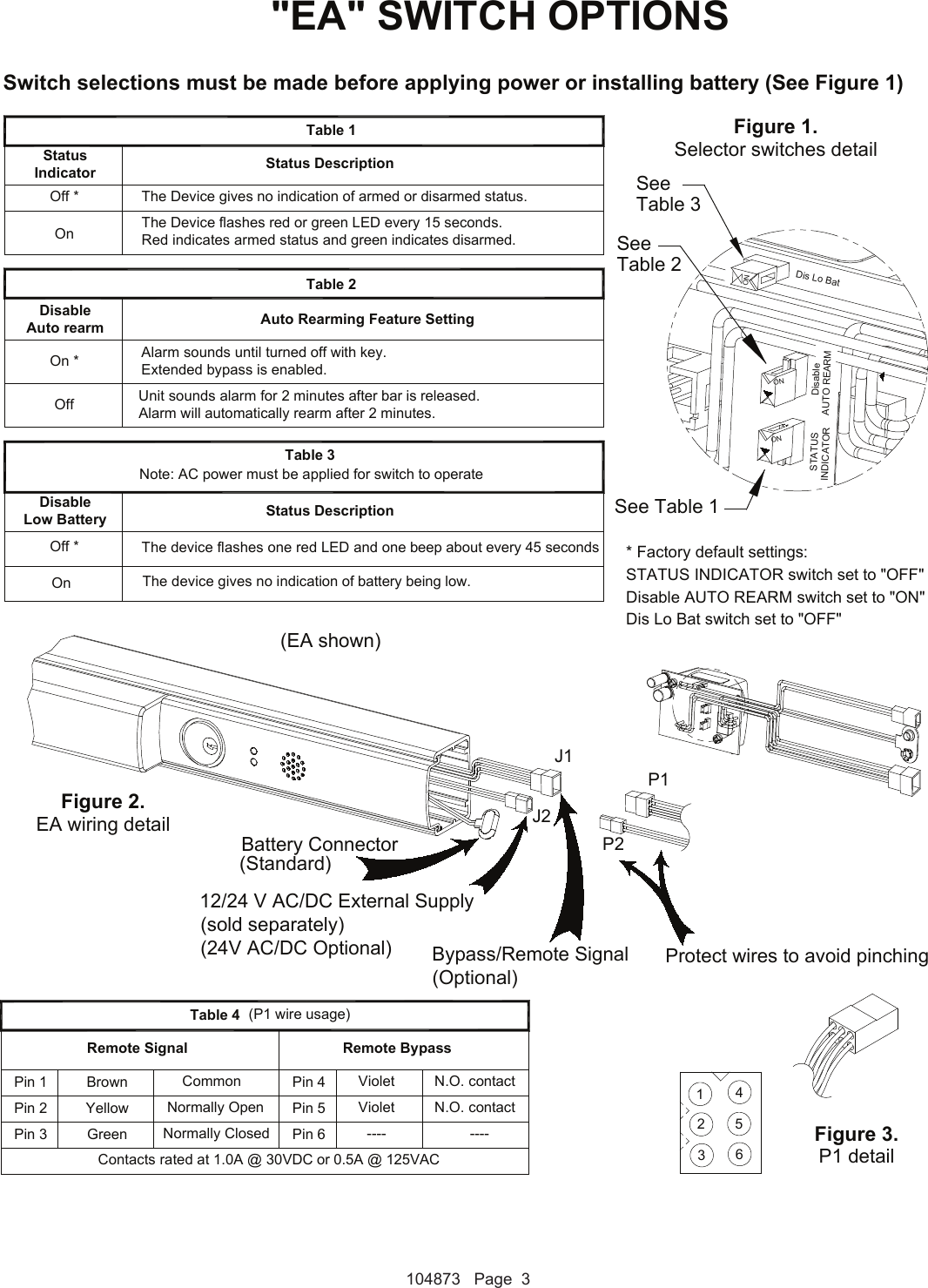 Detex Electrical Instructions For Advantex Ea Or Ex S 104873 Wiring Diagrams Page 3 Of 7