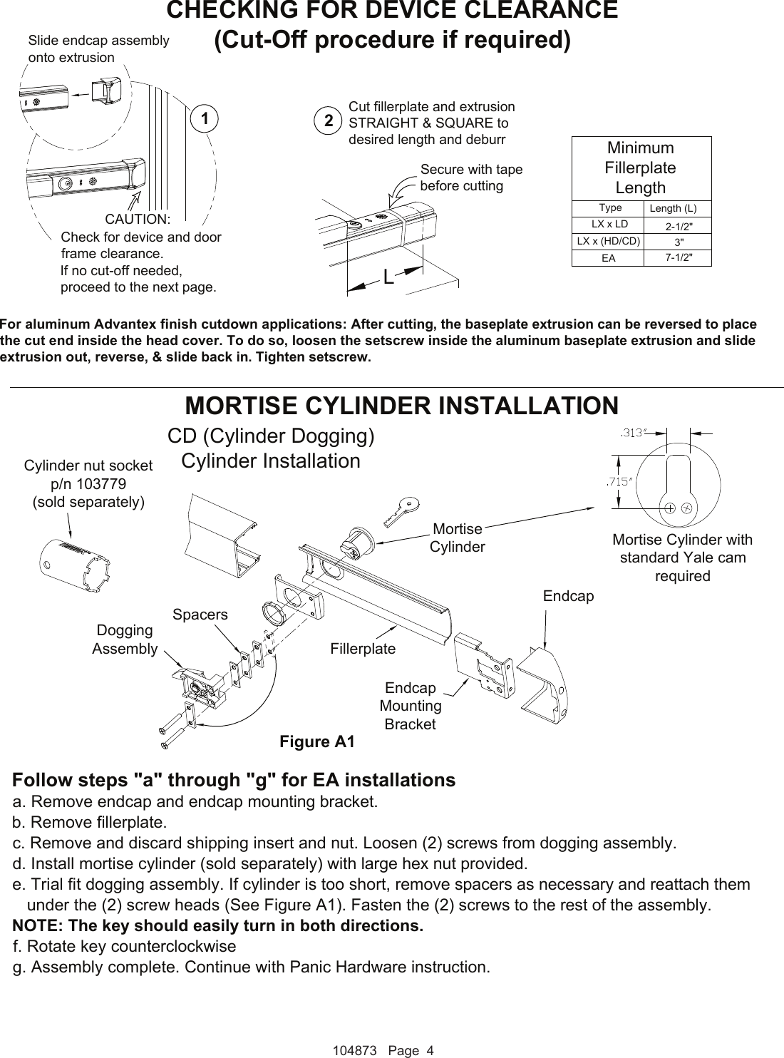 Detex Electrical Instructions For Advantex Ea Or Ex S 104873 Wiring Diagrams Page 4 Of 7