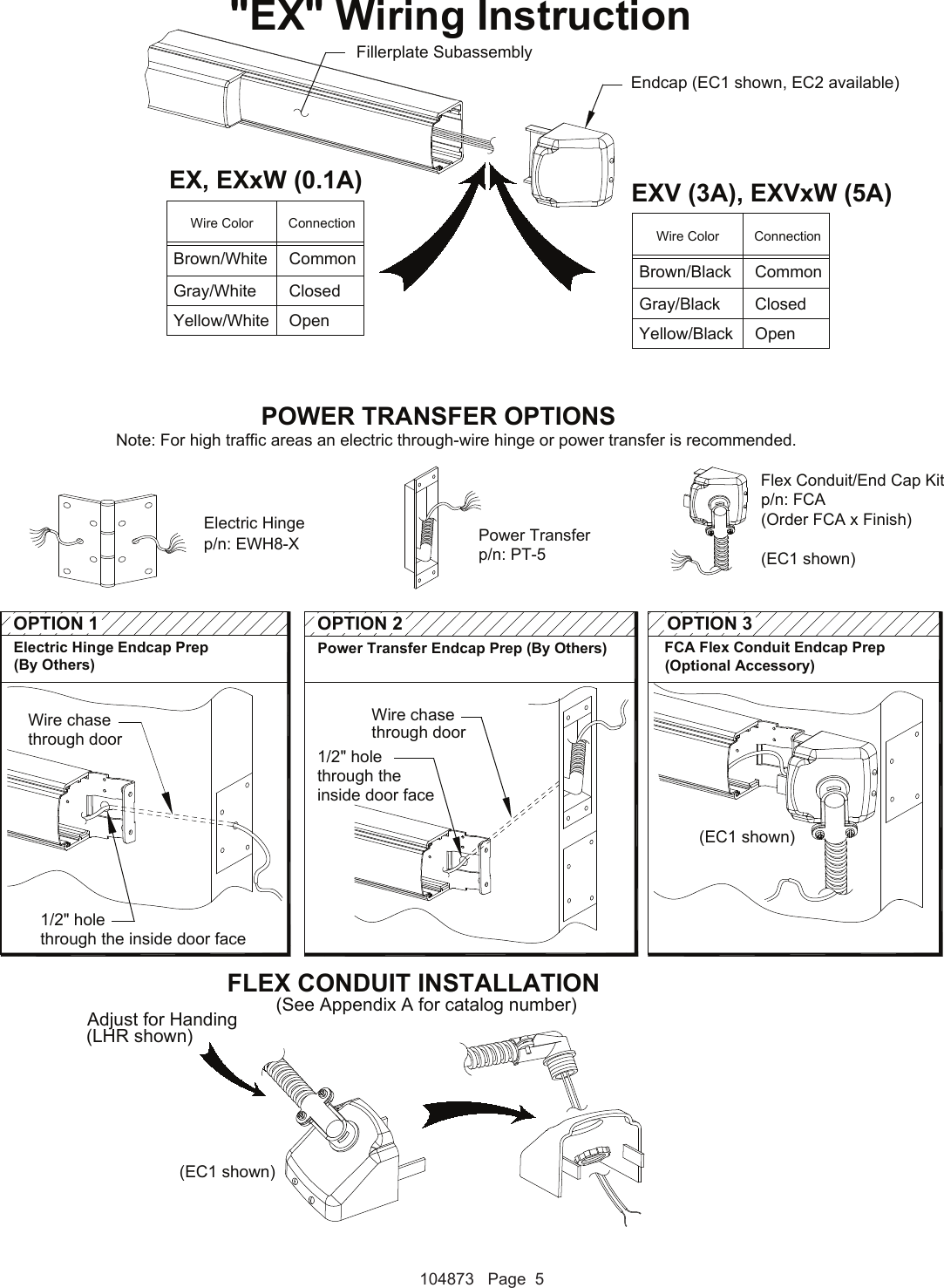 Detex Electrical Instructions For Advantex Ea Or Ex S 104873 Wiring Diagrams Page 5 Of 7