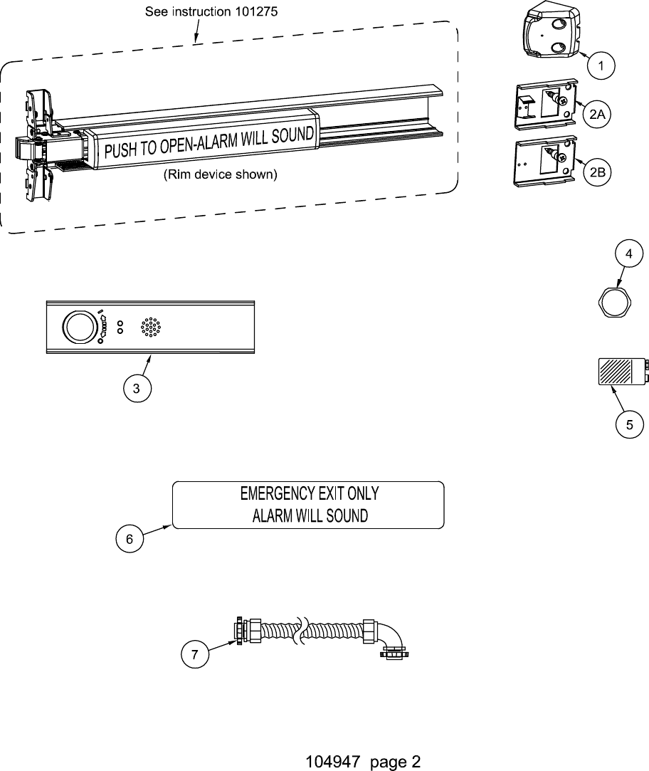 Detex C Electrical Instructions For Value Series Eb Ea Ex And Ebx Wiring Diagrams Page 2 Of 7