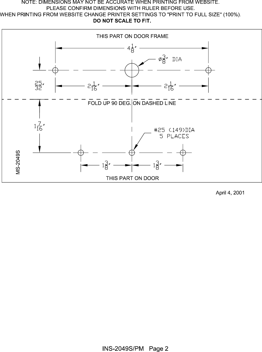 Detex R Installation Instructions Magnetic Switch Ms 2049s Surface Wiring Diagrams Page 2 Of