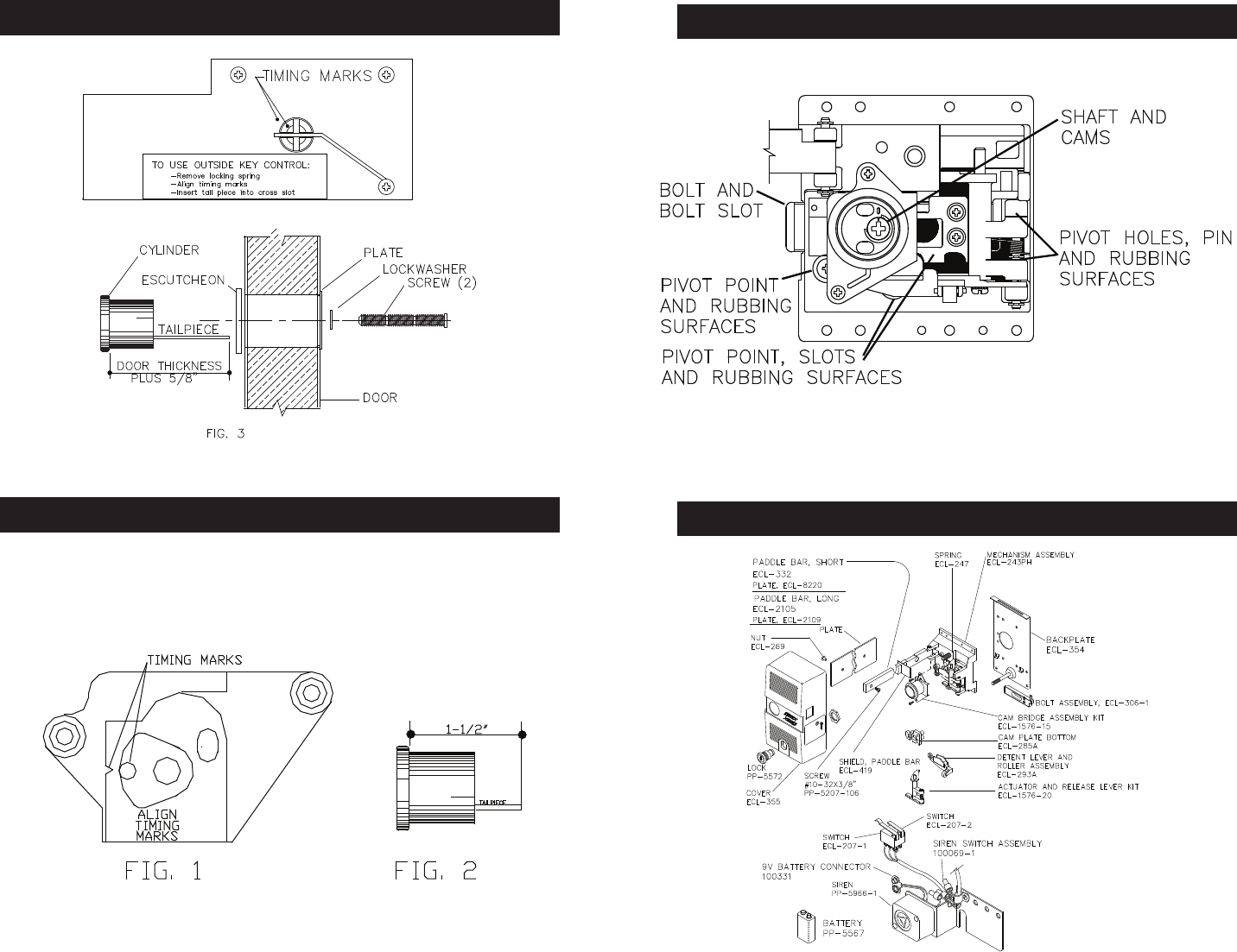 [SCHEMATICS_4FD]  Detex ECL 230D Maintenance Manual 230DMaintenance | Detex Wiring Diagrams |  | UserManual.wiki