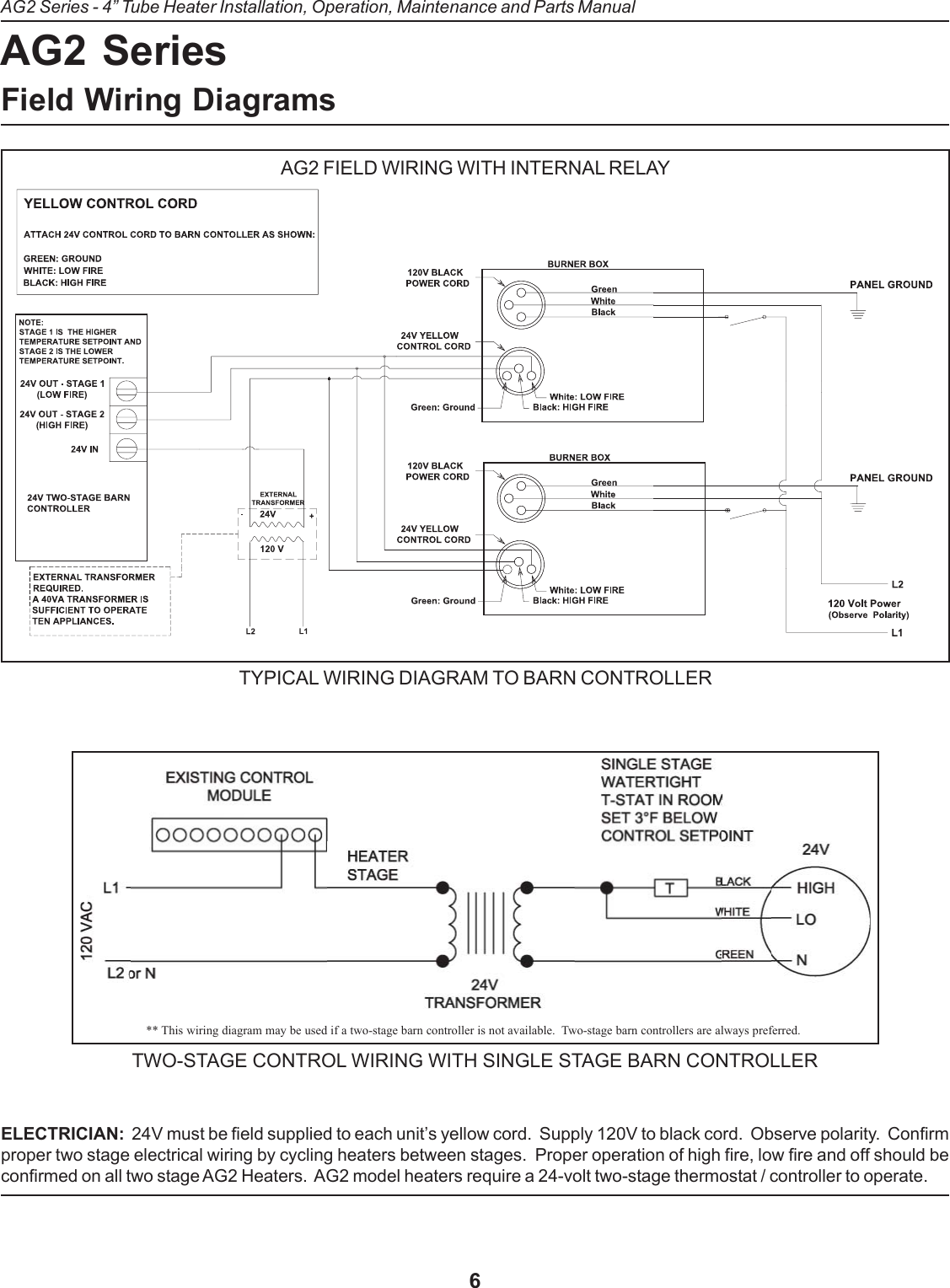 Detroit Electric Gas Heater V 5 05 Users Manual Ag 2 Insert 9 03 120v Wiring Diagrams Page 6 Of 12
