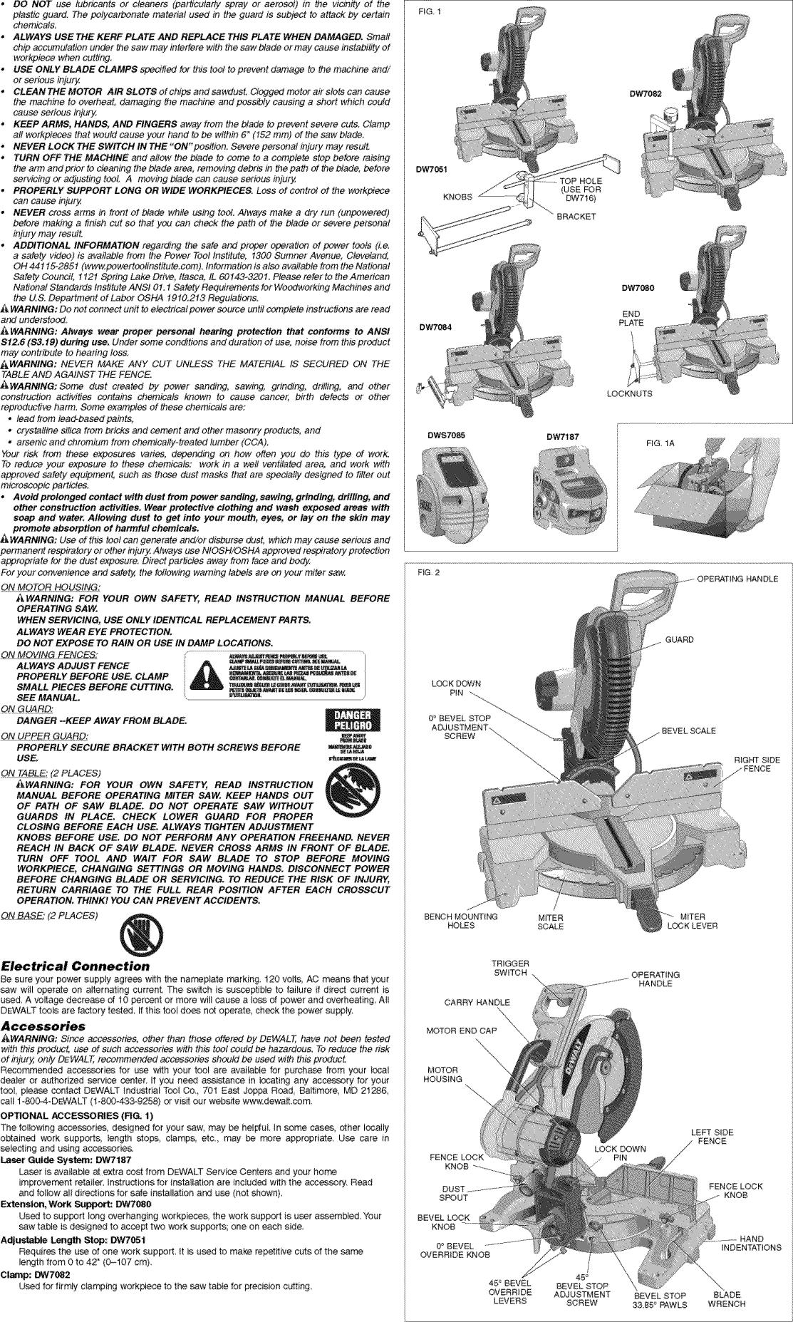 Dewalt DW716 TYPE3 User Manual MITER SAW Manuals And Guides