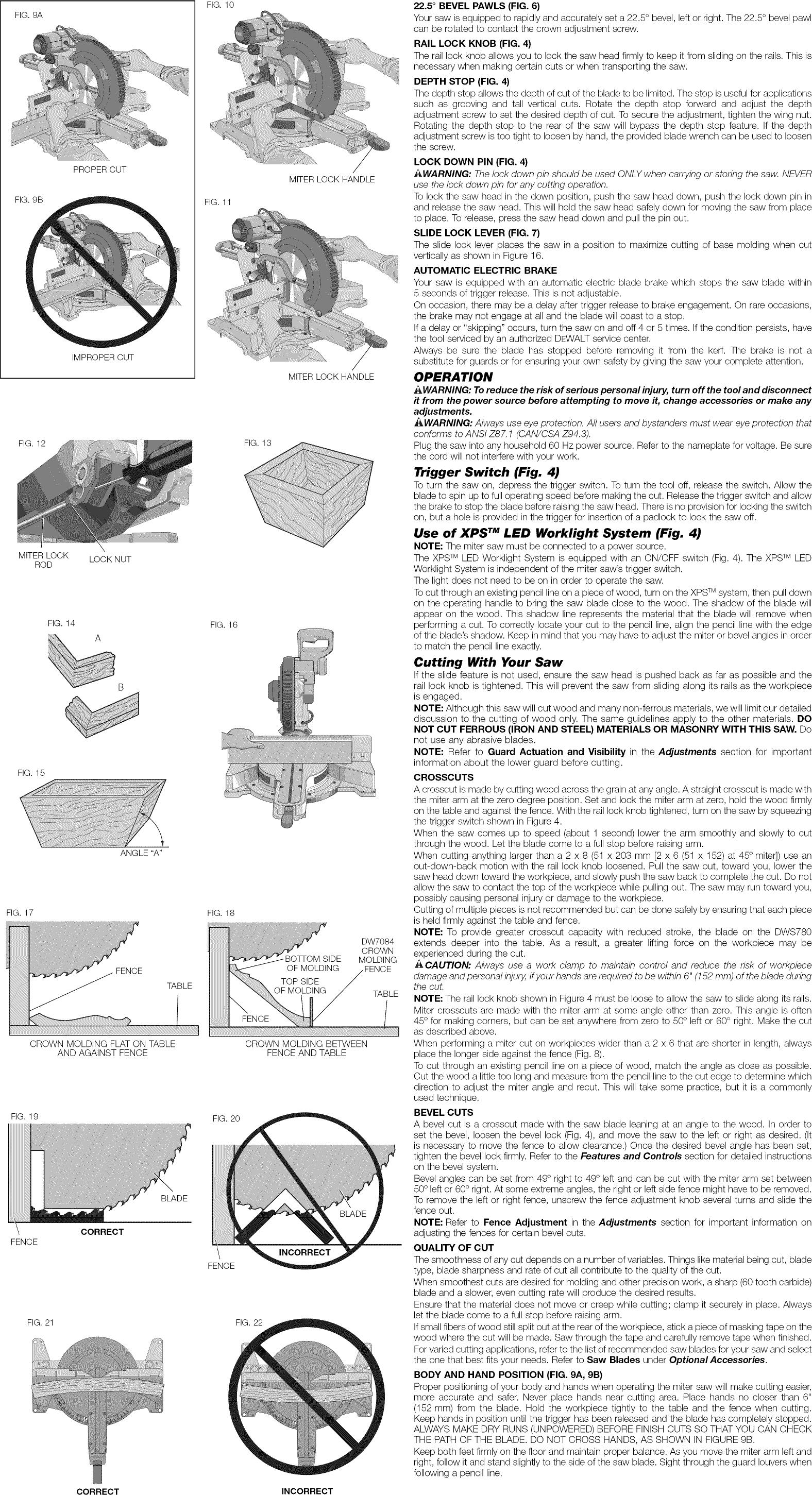 Dewalt 12 Miter Saw Dws 780 Owners Manual Manual Guide