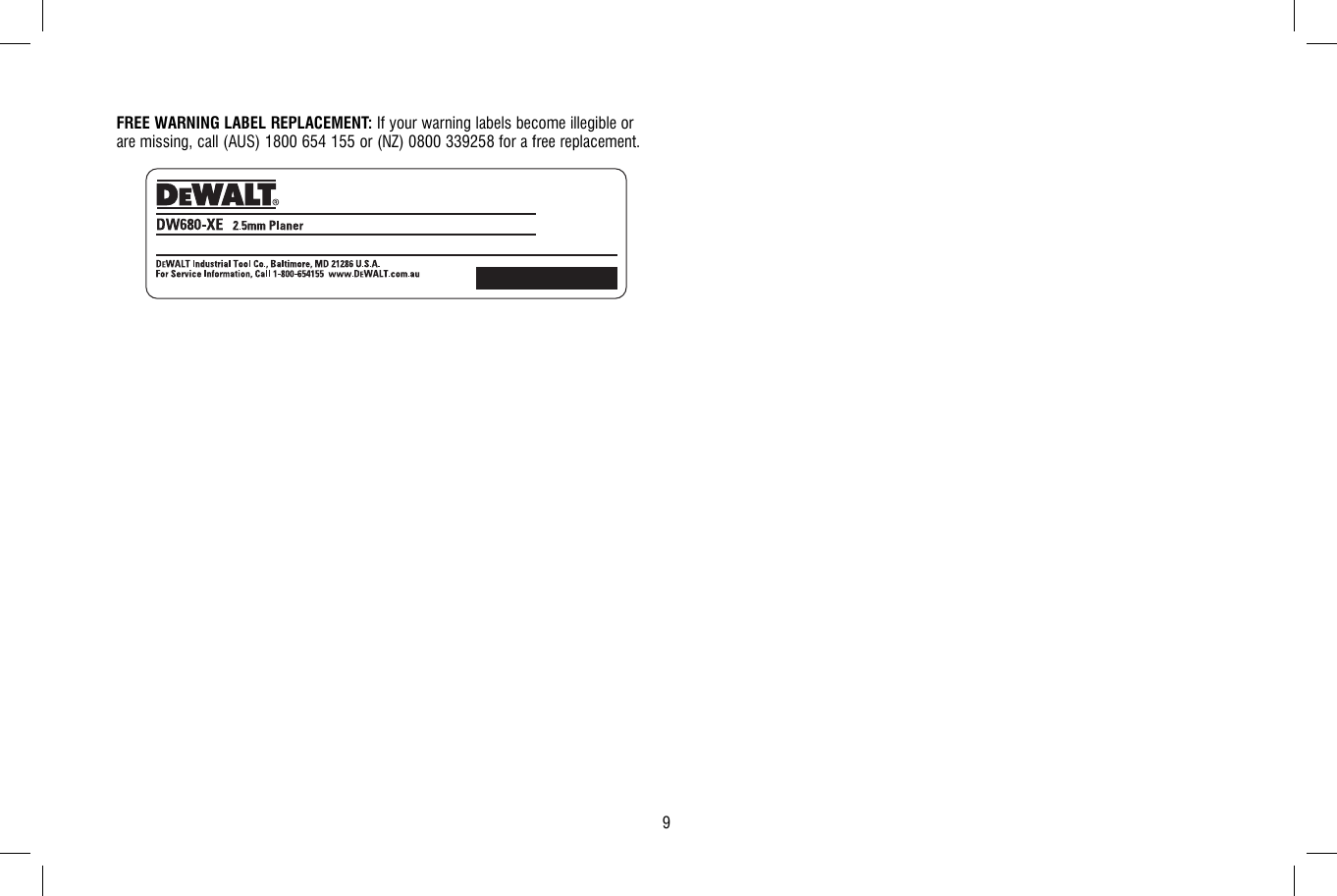 dewalt dw680 xe instruction manual n090451 man planer rh usermanual wiki dewalt dw680 owners manual