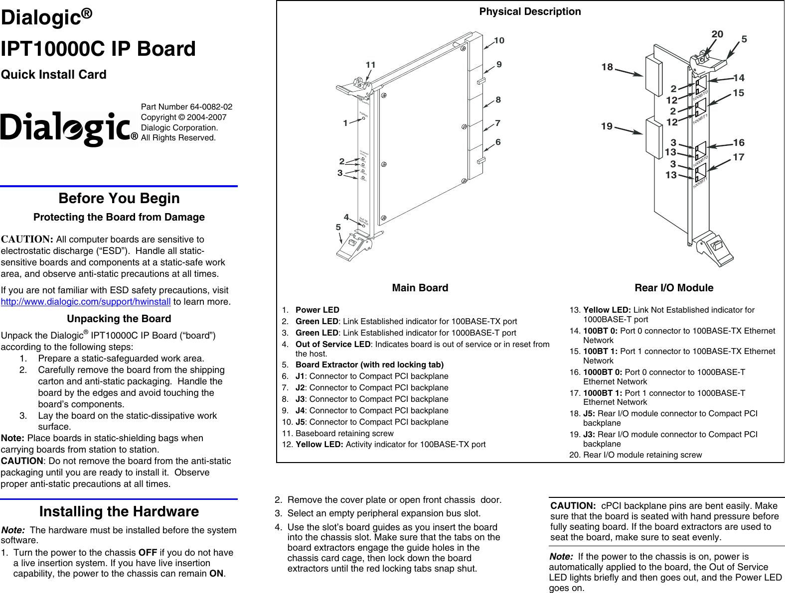 dialogic ip board ipt10000c users manual dm3 vfn series rh usermanual wiki Dialogic Reading Dialogic Linguistics