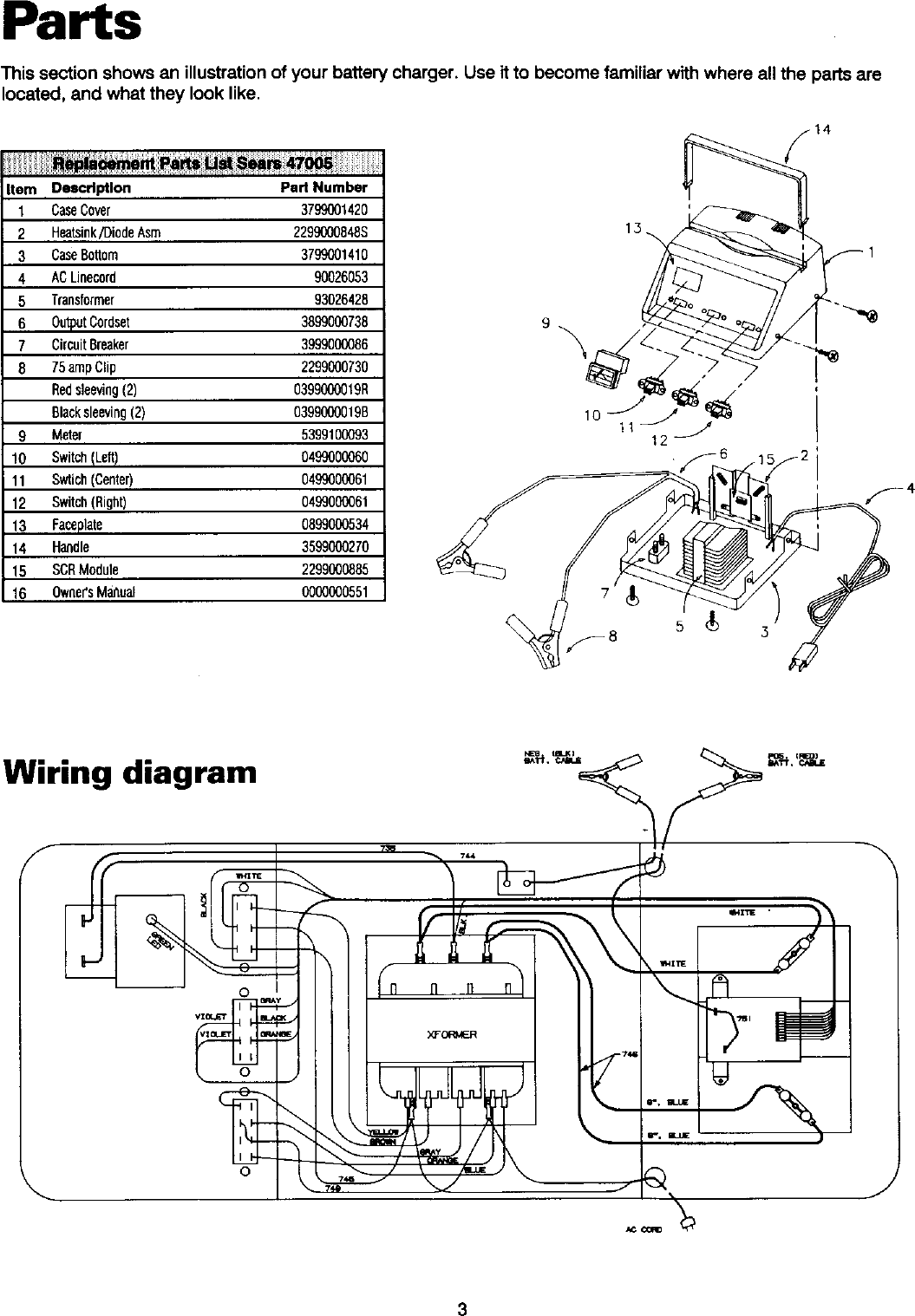 Diehard 20047005 User Manual Battery Charger Manuals And Guides L0305332 Circuit Using Scr Page 4 Of 12