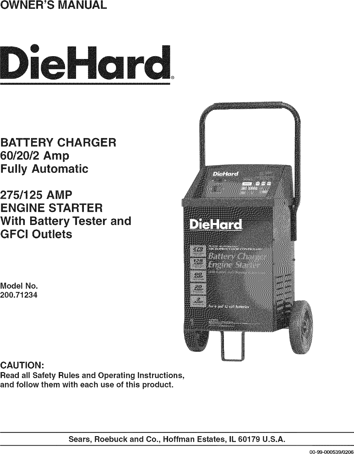 Diehard 20071234 User Manual Battery Charger Manuals And Guides Lr707455