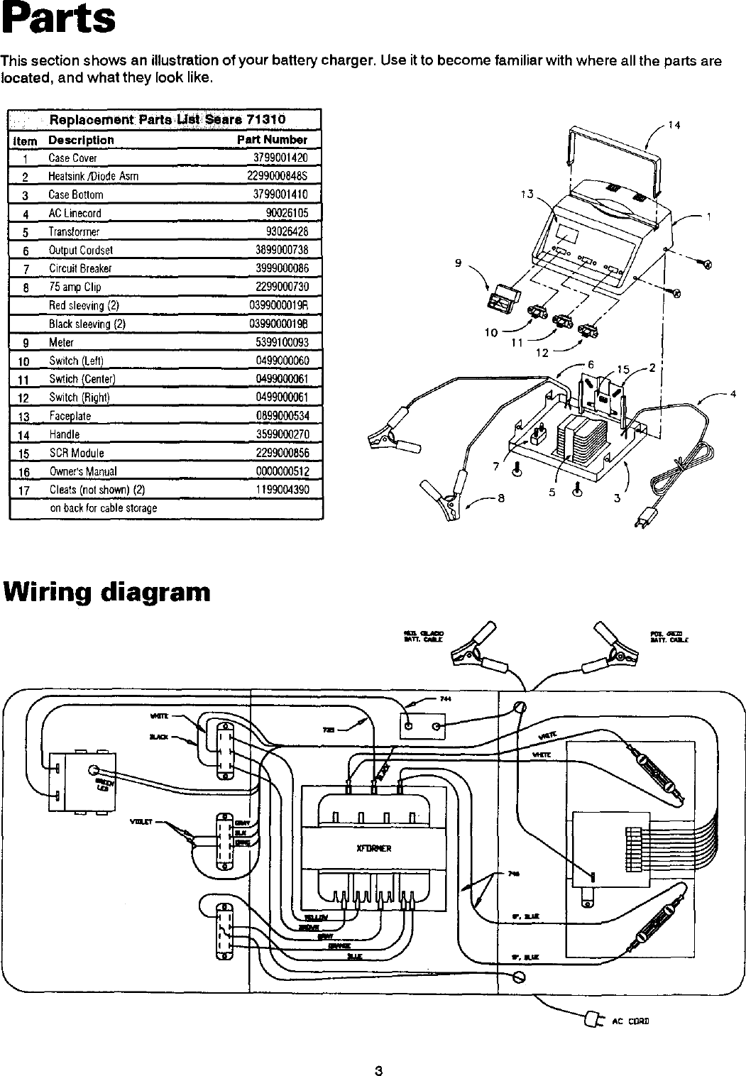 Diehard 20071310 User Manual Battery Charger Manuals And Guides L0305324 Transformer Wiring Diagram Page 4 Of 12