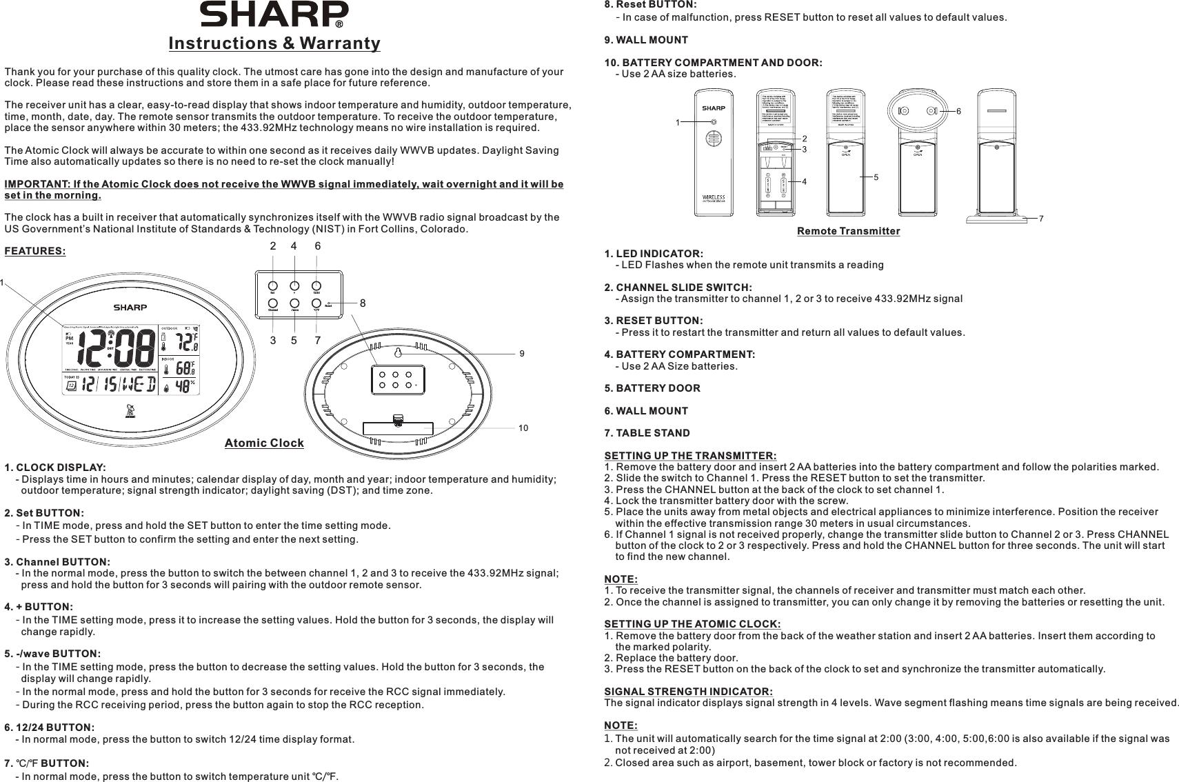 Acurite Digital Indoor Outdoor Temperature U0026 Humidity Manual Guide