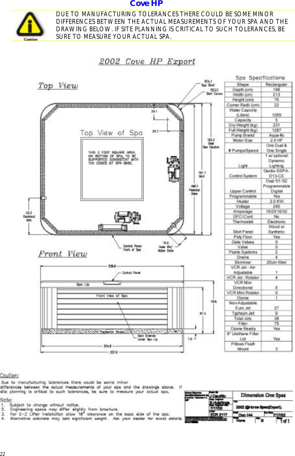 Diion One Spas Home Hot Tubs Users Manual D1 & @Home ... on