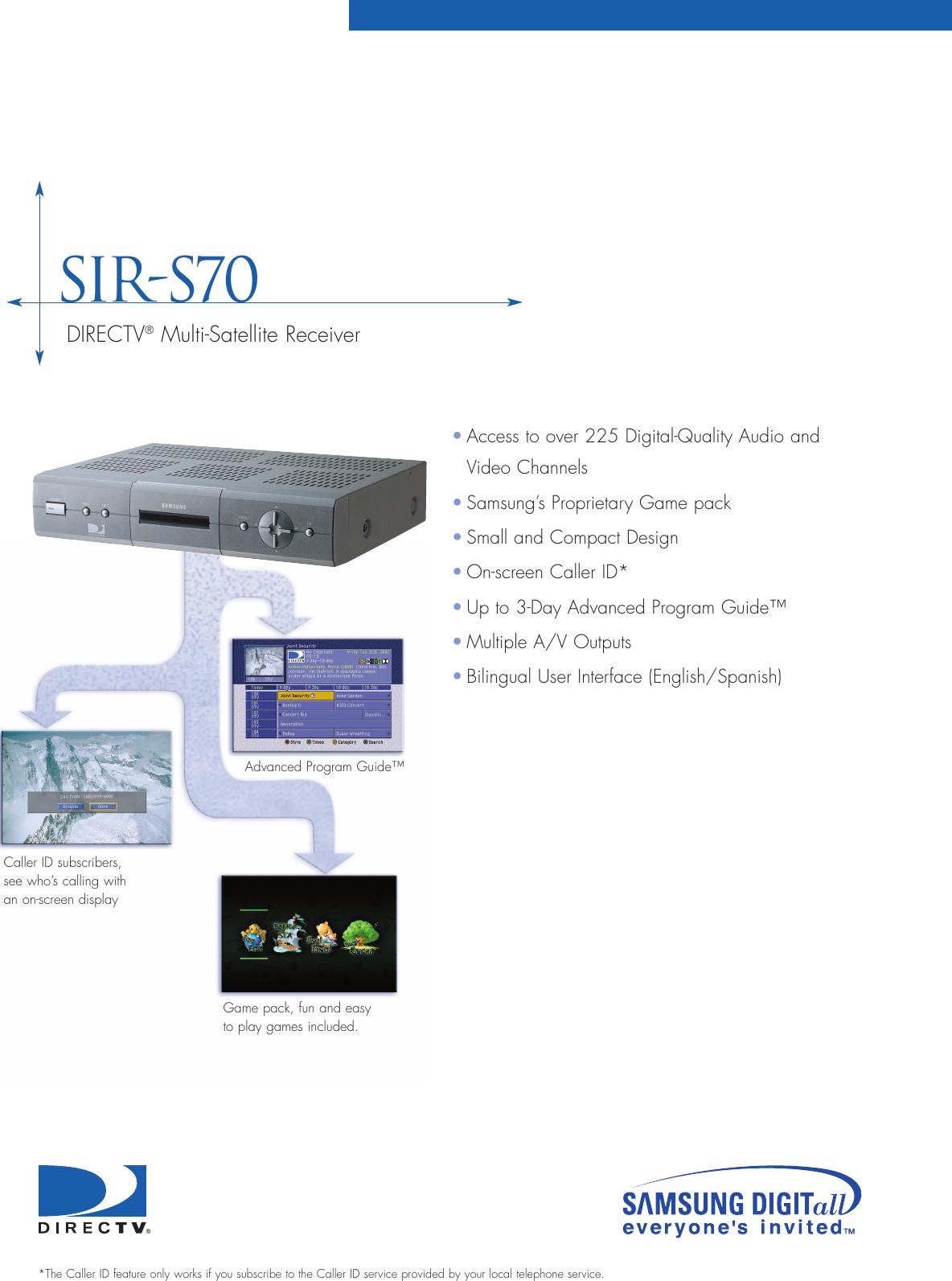 directv sir s70 users manual set top prelim 4 02 rh usermanual wiki Direct TV Remote Instruction Guide Direct TV Customer Service