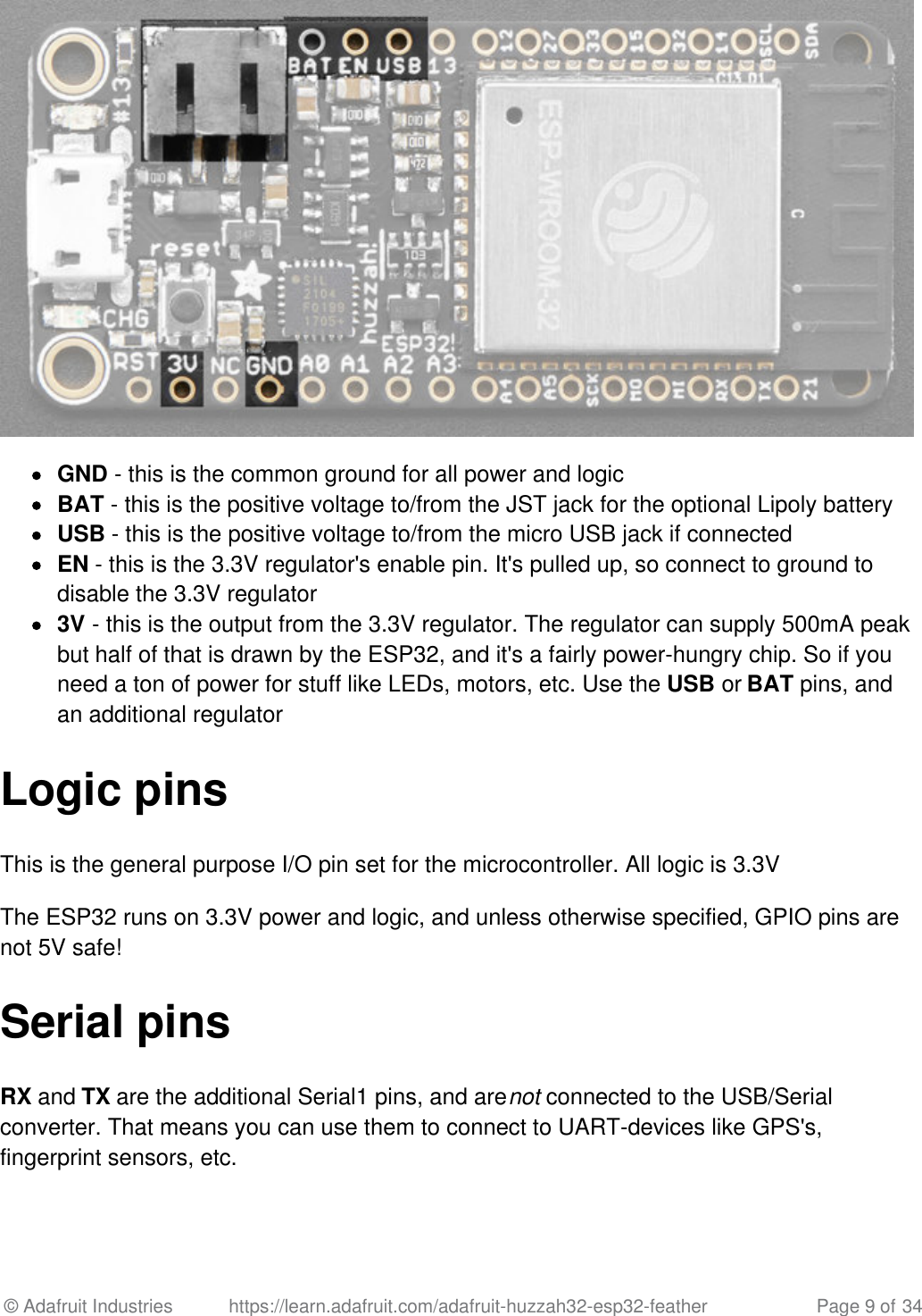 Esp32 Feather Spi