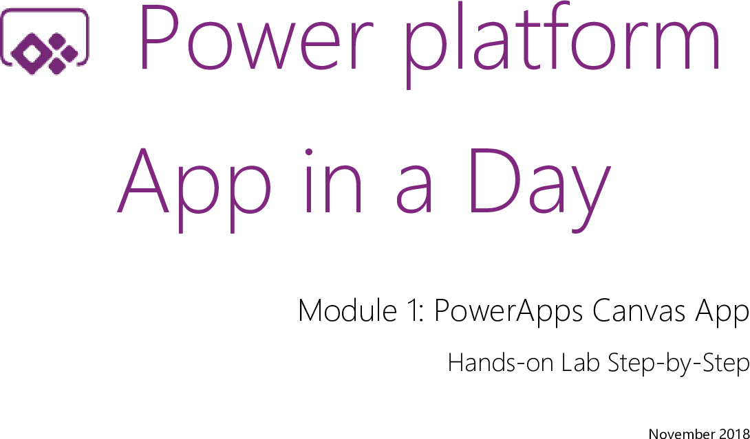 01 Power Apps Canvas App Lab Manual