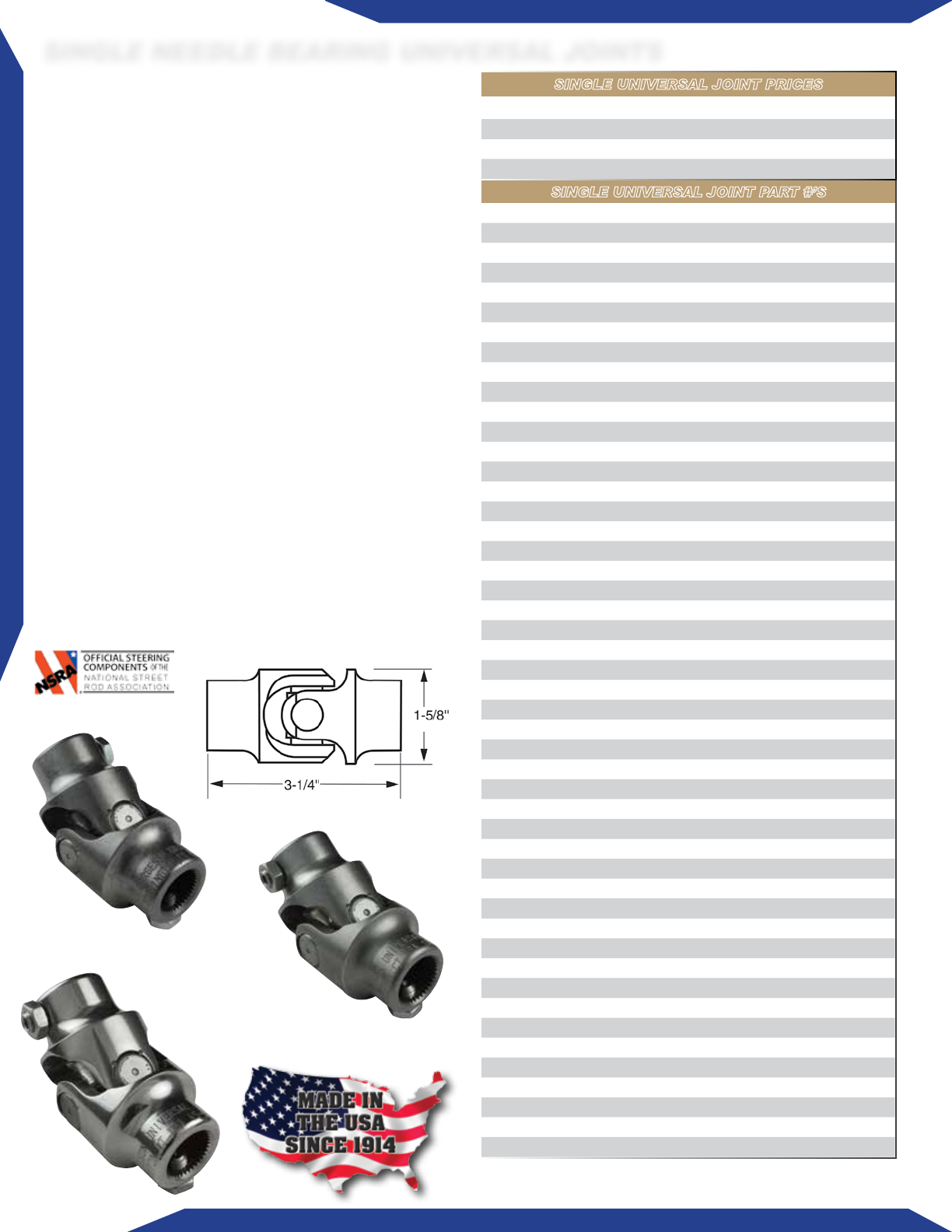 Borgeson 115231 Universal Joint