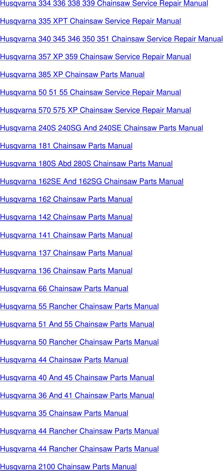 108804818 husqvarna Chain Saws 362xp365372xp Workshop Manual