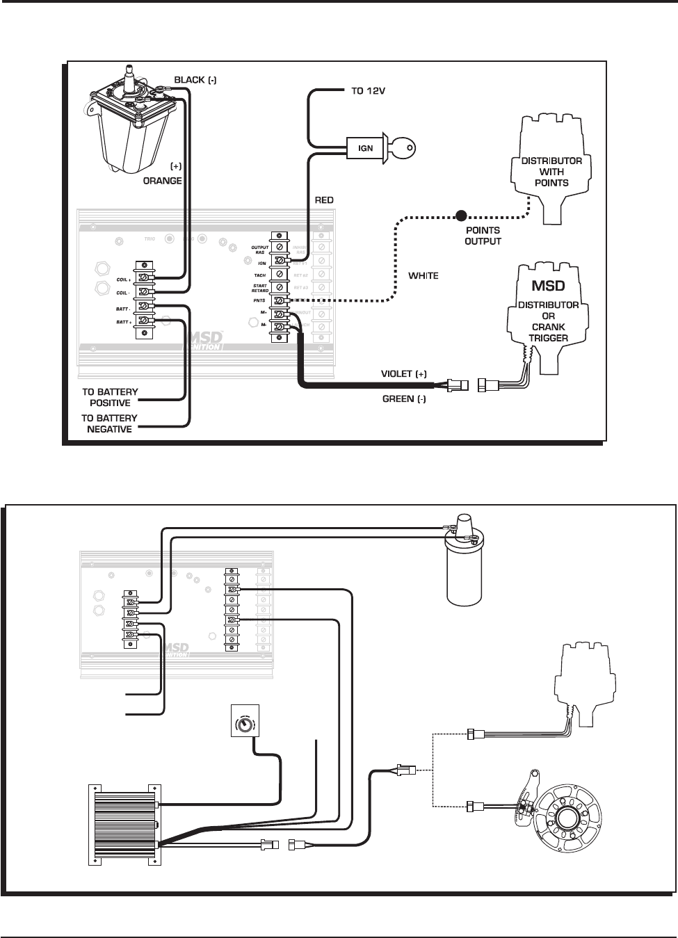 Msd 7230 Ignition Kit Installation Instructions 121 Wiring Diagrams For Msd6 Offroad With 8920 Tach Adapter I Nstallation 3