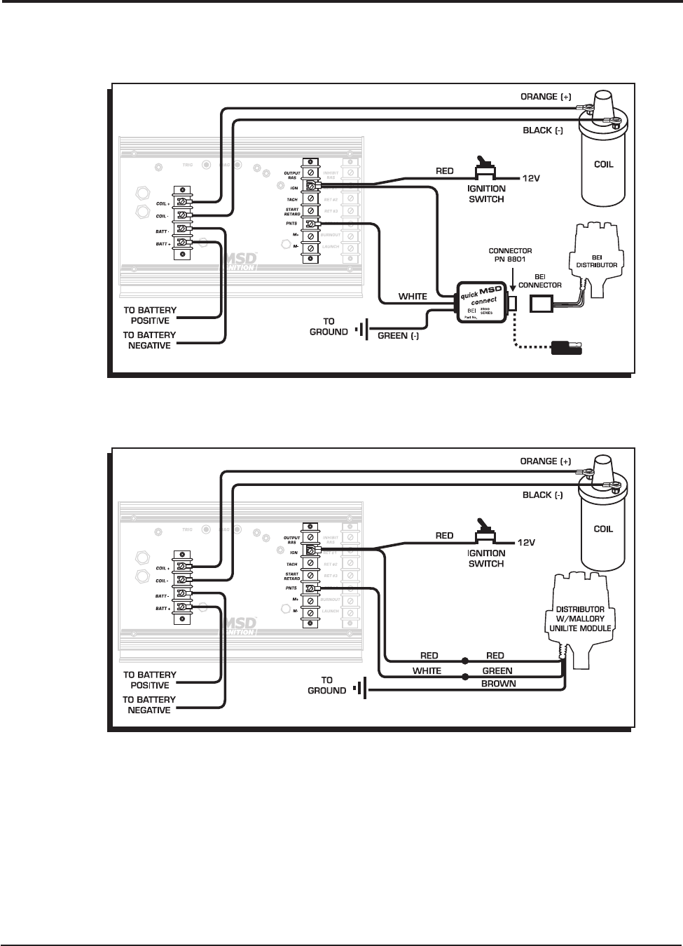 Msd 7230 Ignition Kit Installation Instructions 121 Wiring Diagrams For Msd6 Offroad With 8920 Tach Adapter 4