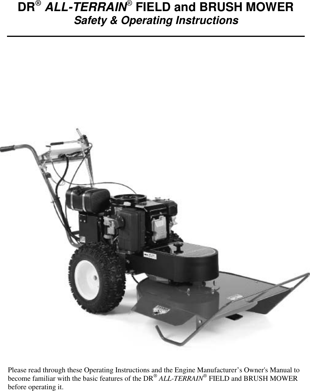 DR(r) ALL TERRAIN(r) FIELD And BRUSH MOWER !! 138341 At1 Ao 2001