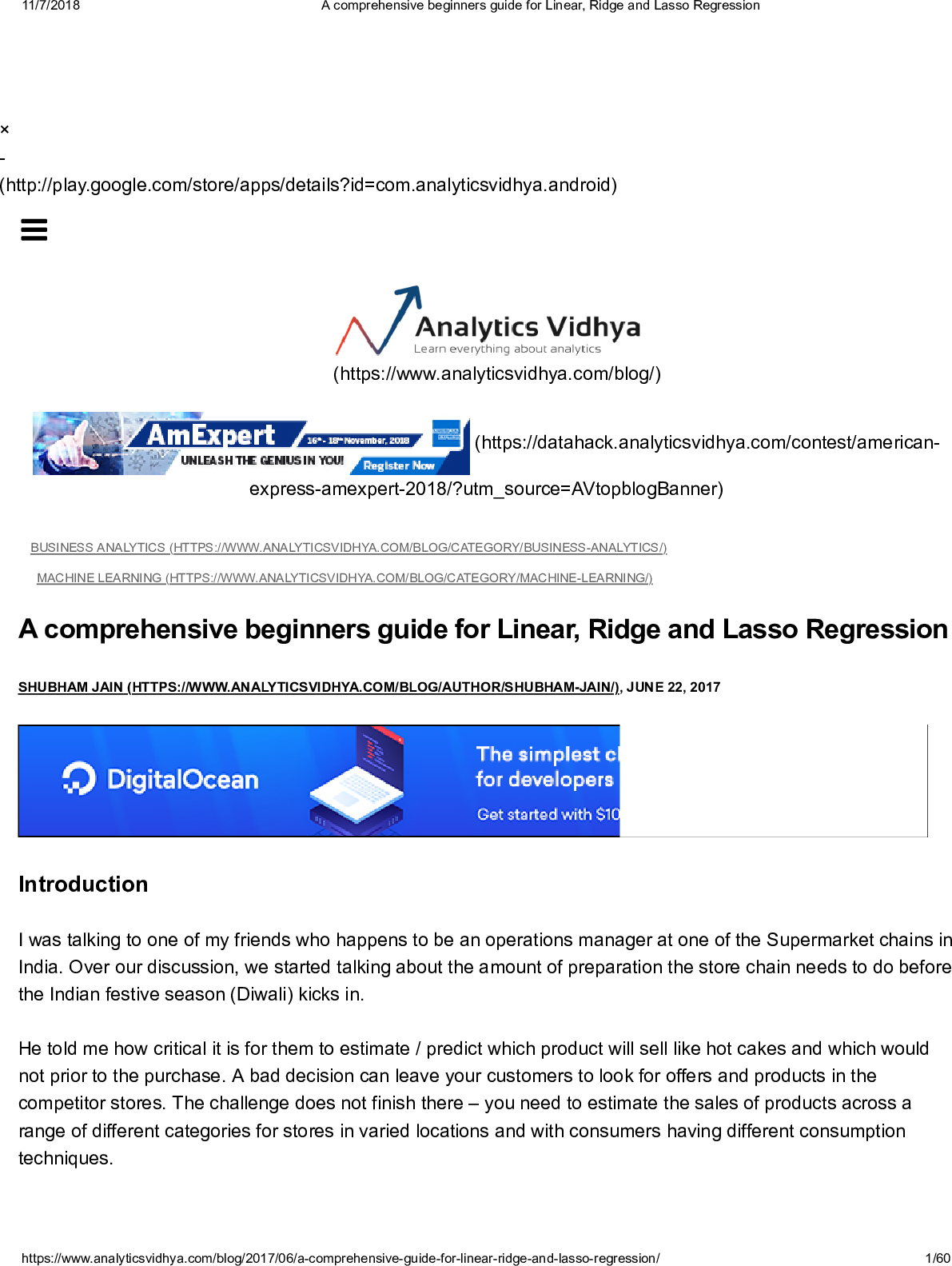 17 A Comprehensive Beginners Guide For Linear, Ridge And