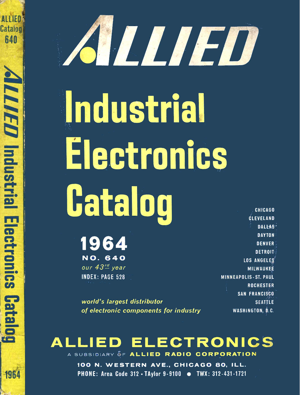 1964 Allied Electronics Catalog Unilite Distributor Wiring For A Gma
