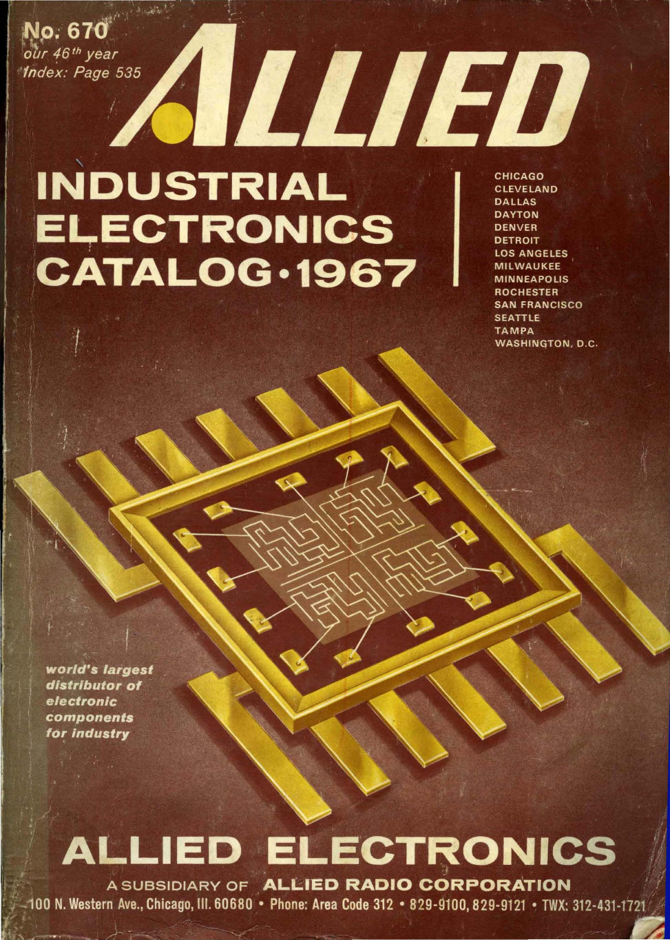 1967 Allied Industrial Electronics Catalog Wiring Schematic Diagram Fuse Box Ford F150 Pickup 4 C3 974 Connector