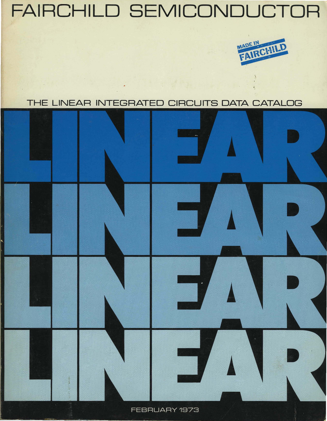 1973 Fairchild Linear Integrated Circuits Data Catalog Super Zener Variable Diode Circuit Using 741 Op Amp