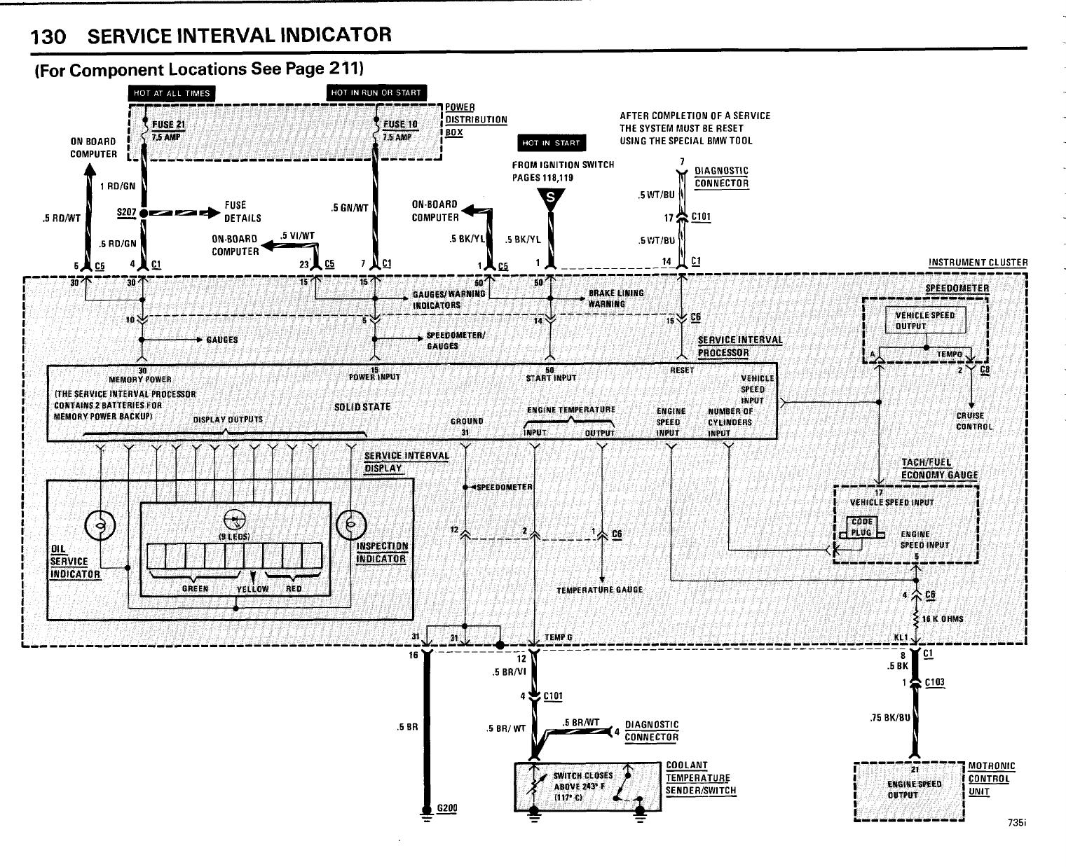 Bmw 735i  E23  1985 Electrical Troubleshooting Manual