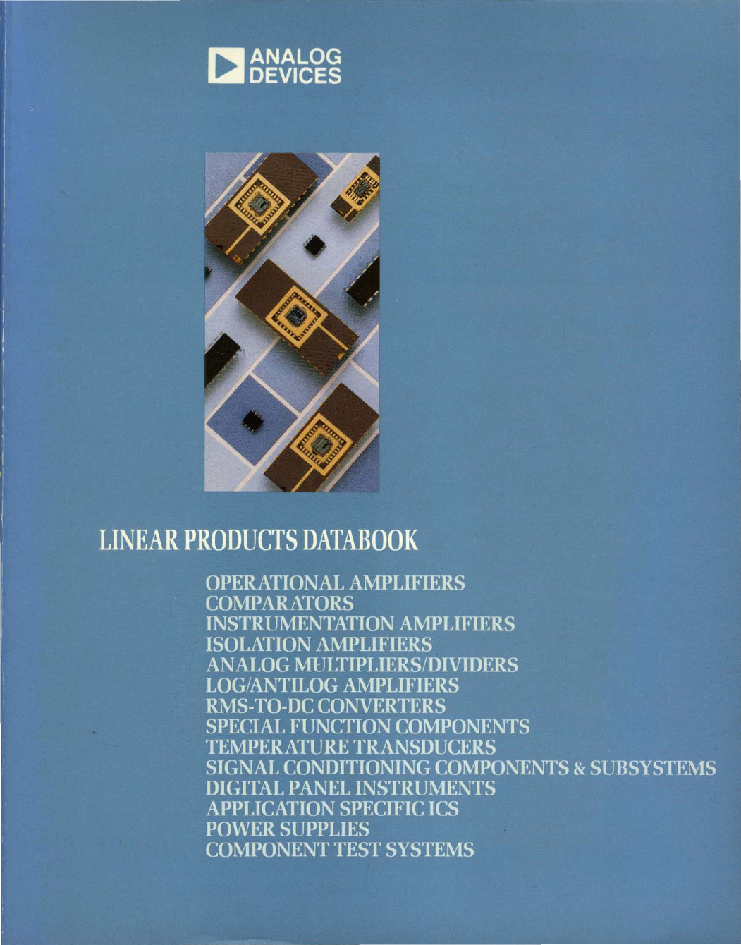1988 Analog Devices Linear Products Databook Converter Connected To Measure Ratiometric Values Of Quad Load Cells
