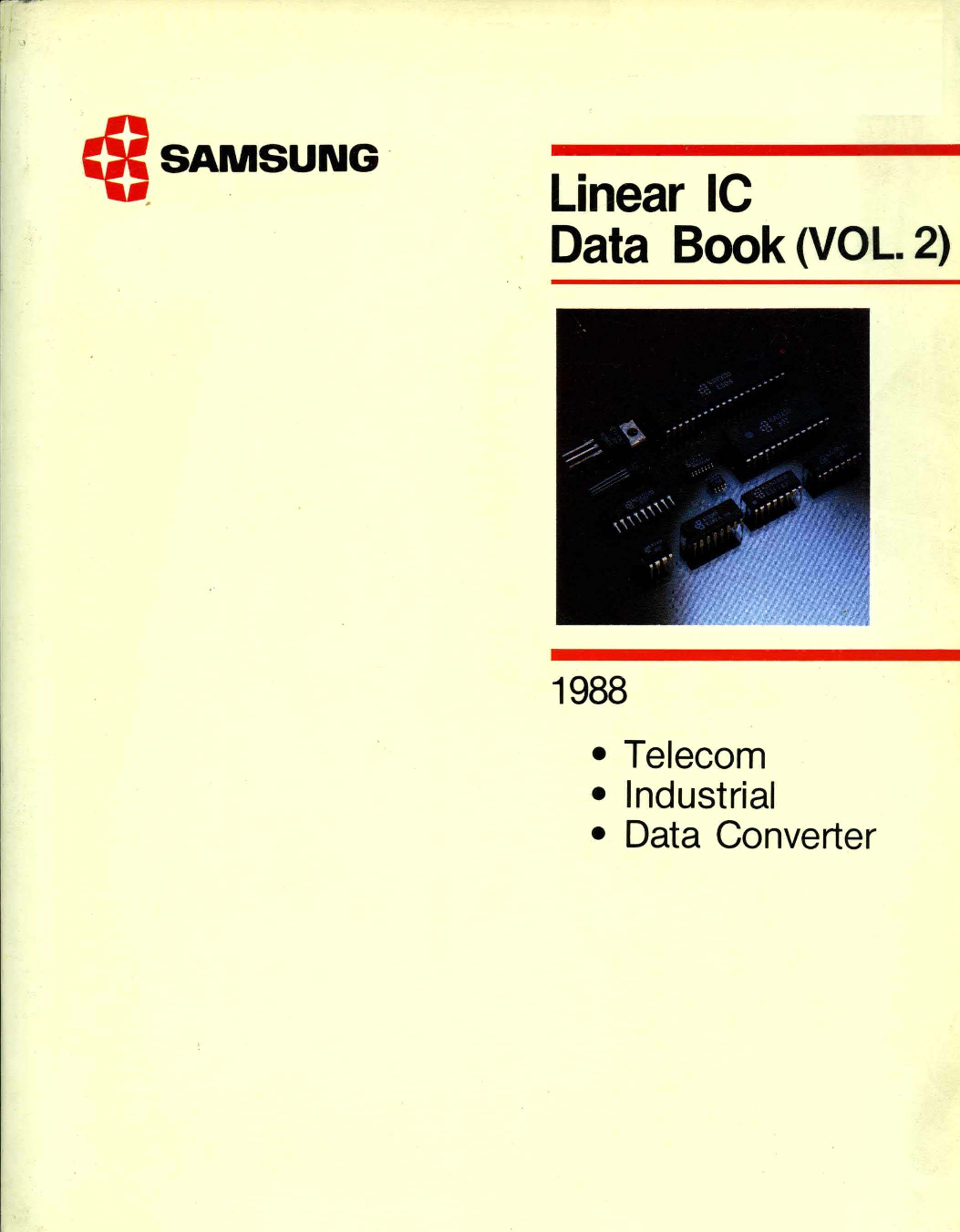 1988 Samsung Linear Ic Data Book Vol 2 Lm 567 Touch Tone Decoder