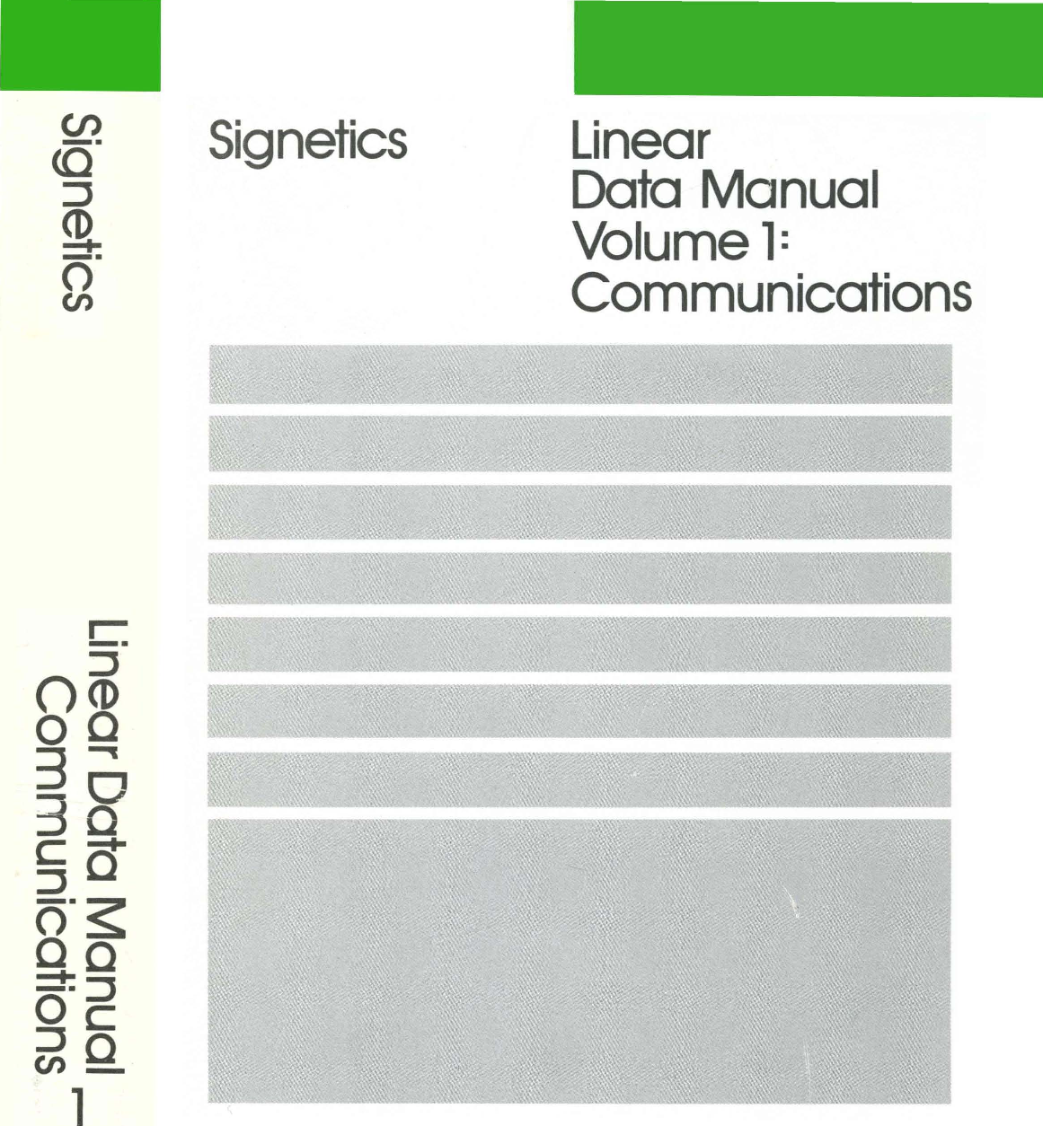 1988 Signetics Linear Data Manual Vol 1 Communications Lm358 358 Ic Dual Operational Amplifiers Dip8 Integrated Circuit