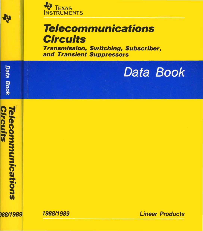1988 Ti Telecommunications Circuits Data Book Electronic Locks Circuit Principle Is Shown In Fig Icl Dedicated Lock