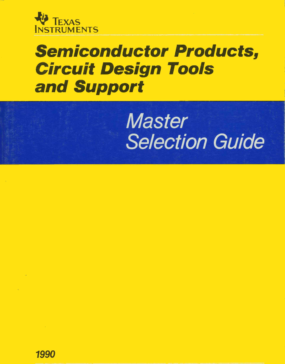 1990 Ti Semiconductor Products Master Selection Guide Lm137 And Lm337 Adjustable Negative Voltage Circuit